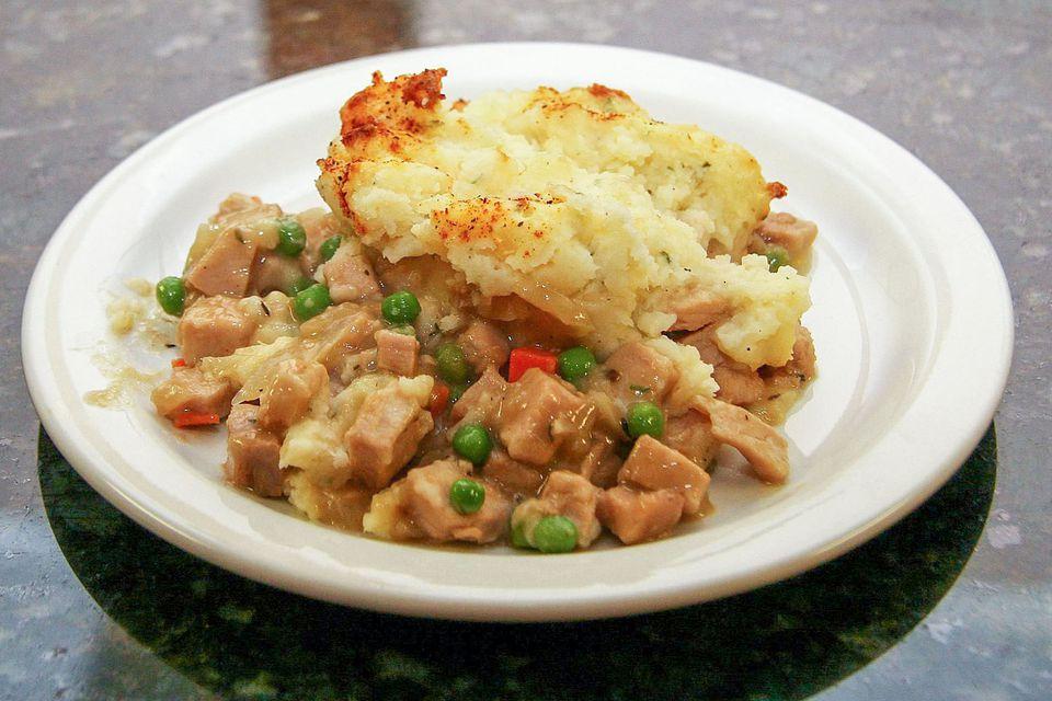 Pork and Mashed Potato Casserole