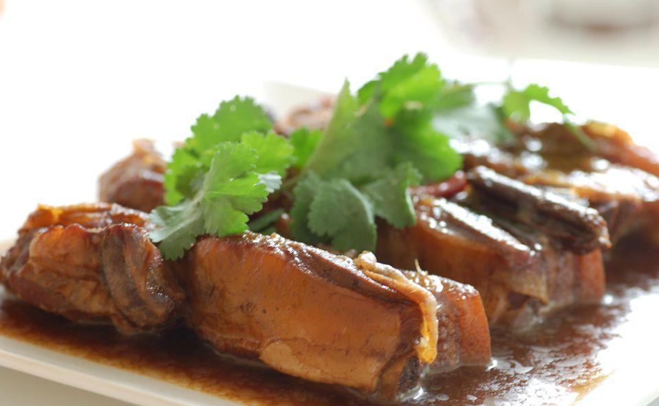 Costillas de cerdo a la barbacoa china - Costillas de ajo y miel