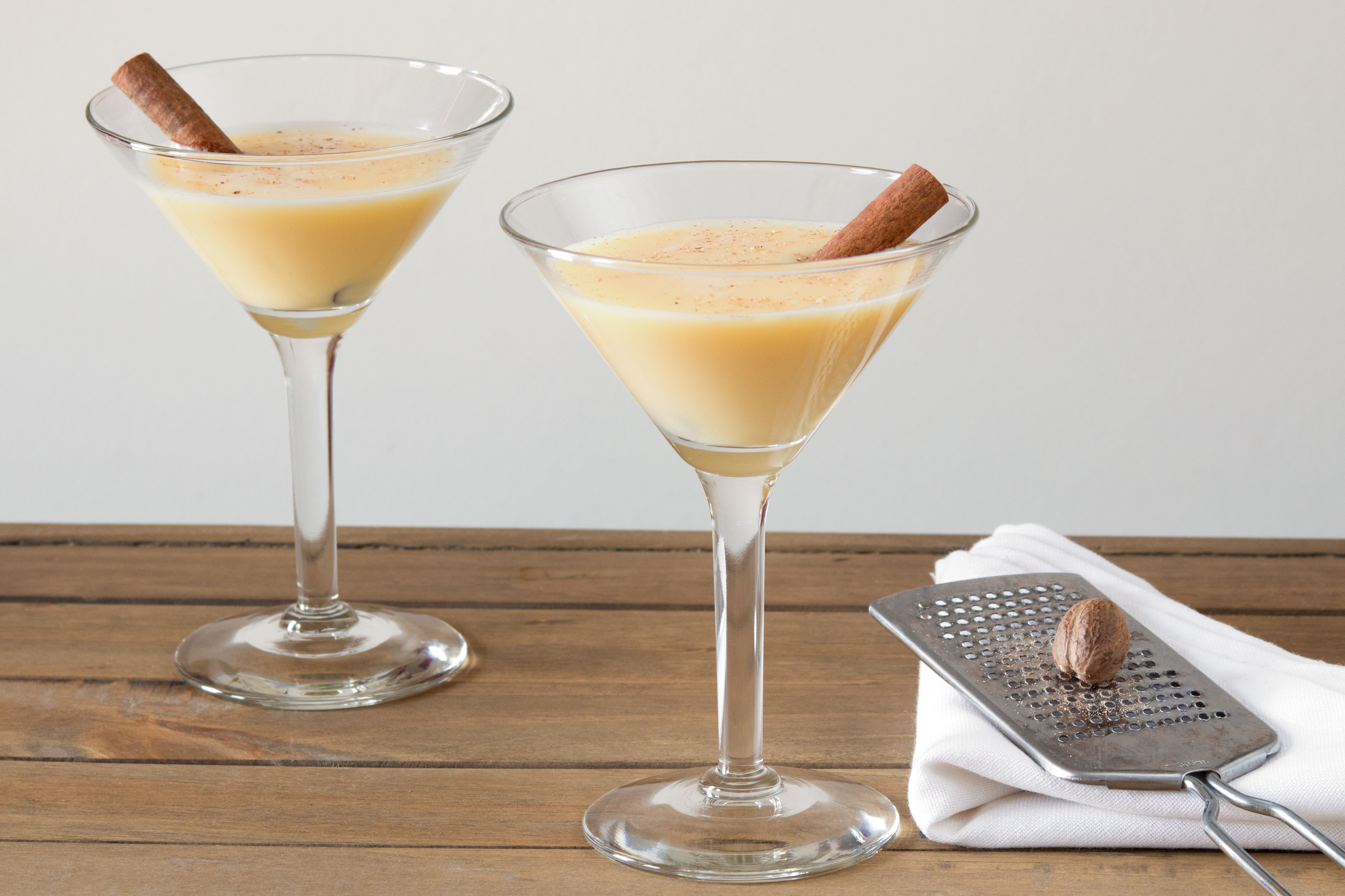 Make Your Holidays Brighter With a Creamy Eggnog Martini