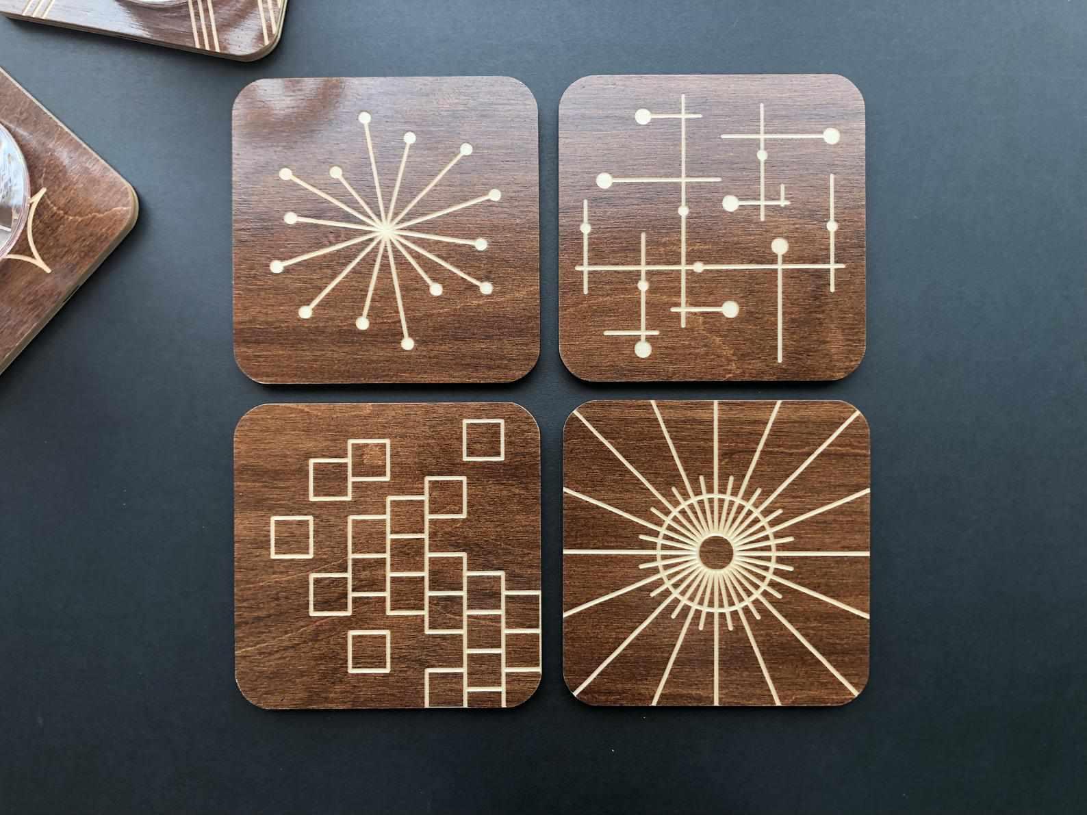 ClerestoryWorkshop Engraved Wooden Coasters