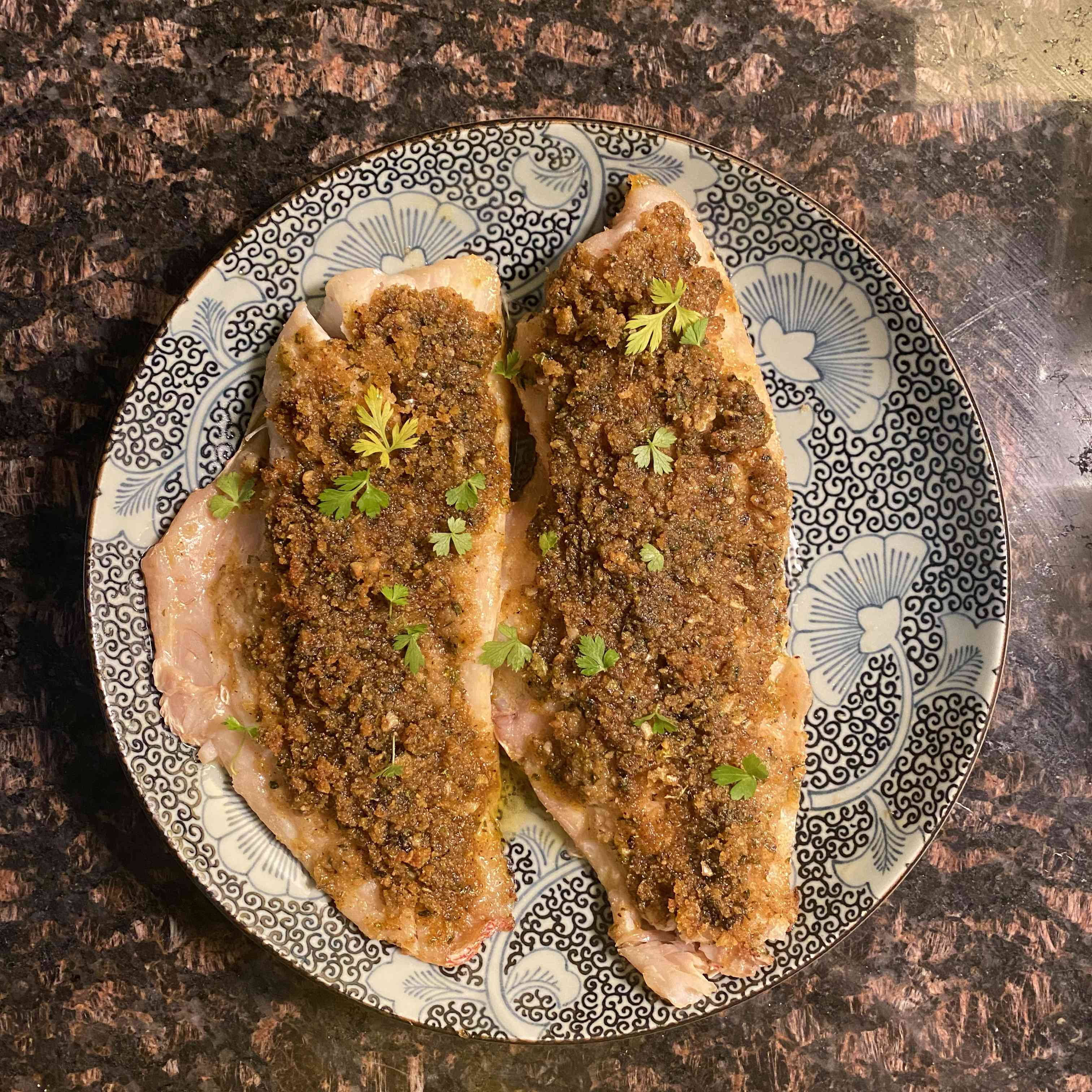 Baked Red Snapper With Garlic and Herbs Recipe Test