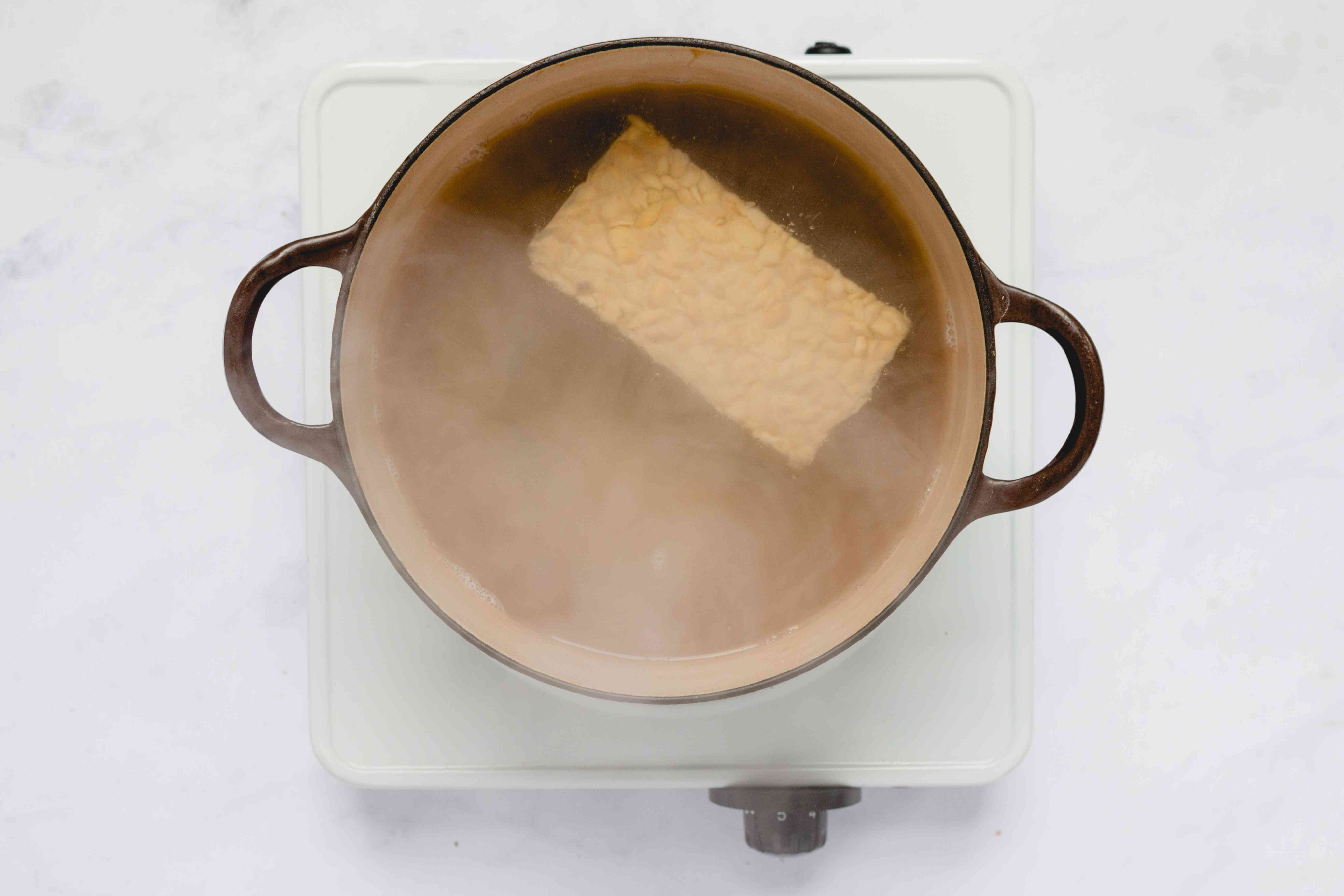 simmer the tempeh in a bit of water