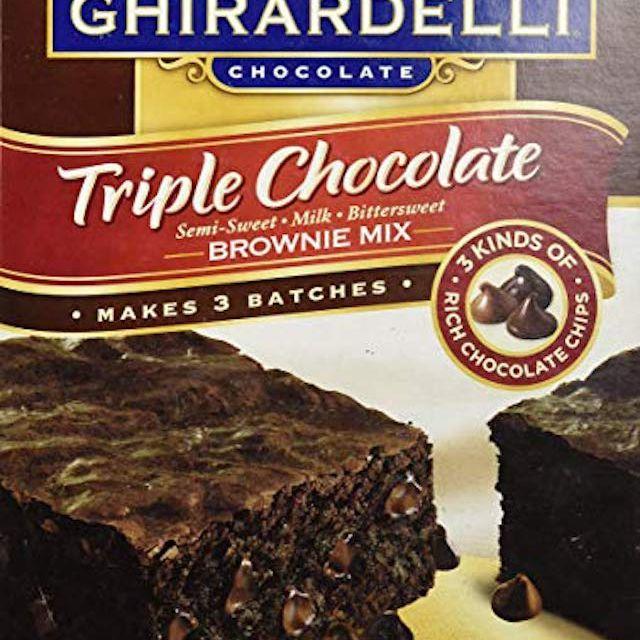 Ghirardelli Triple Chocolate Brownie Mix