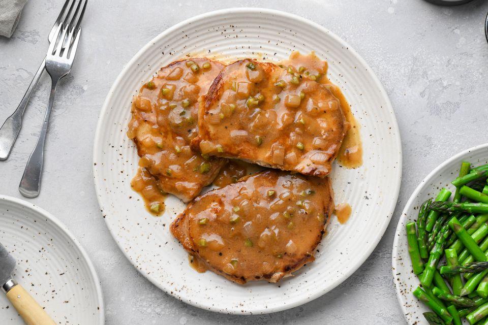 Braised Butterflied Pork Chops
