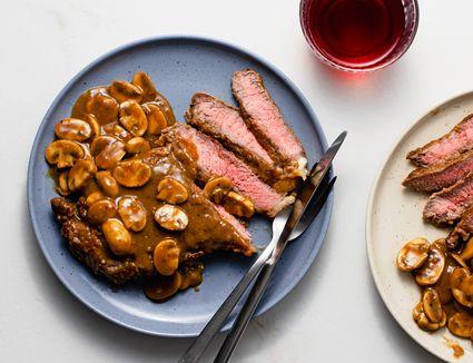 Mushroom Steak Marsala