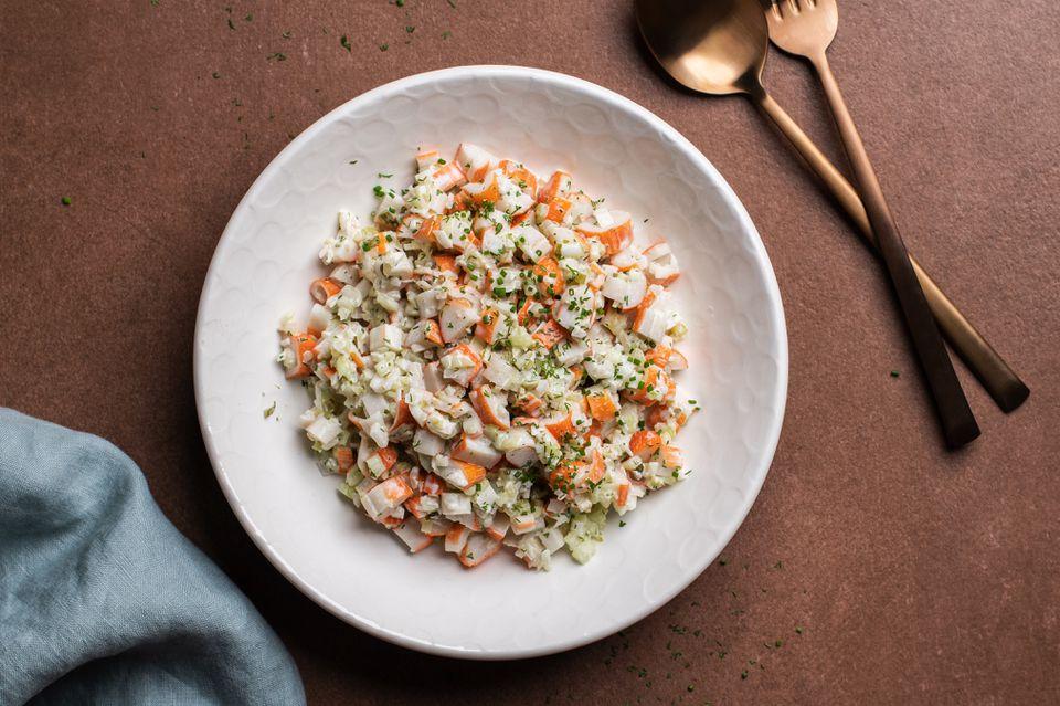Imitation crab seafood salad recipe