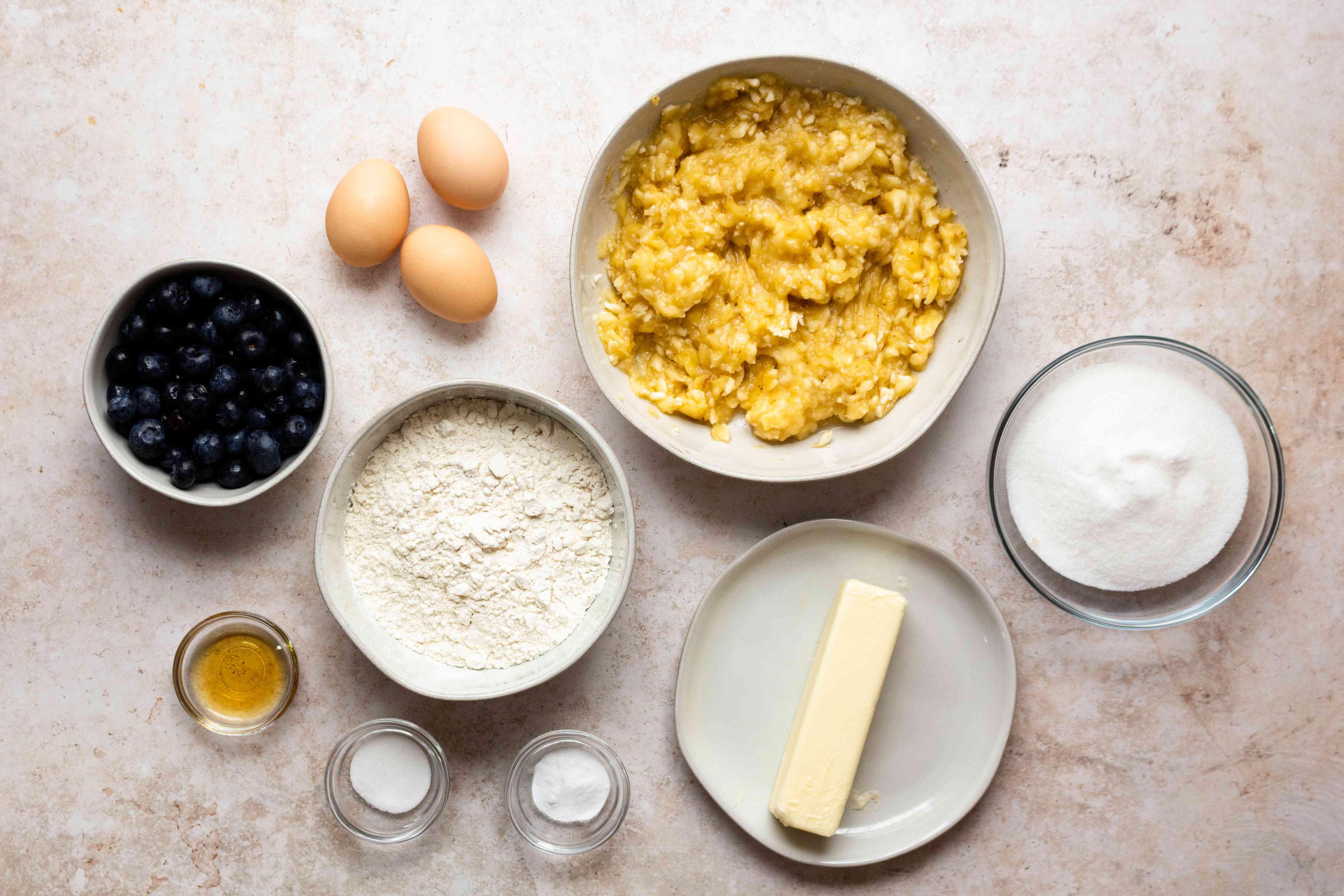 Blueberry Banana Cake ingredients