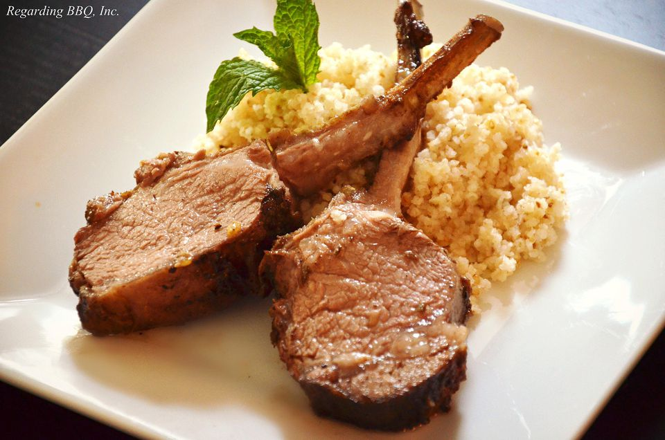 Smoke Roasted Rack of Lamb