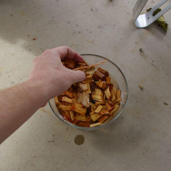 Adding wood chips