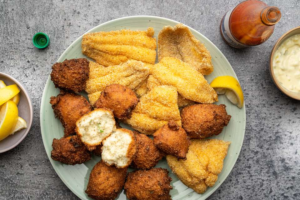 Basic Deep-Fried Catfish Fillets With Hush Puppies