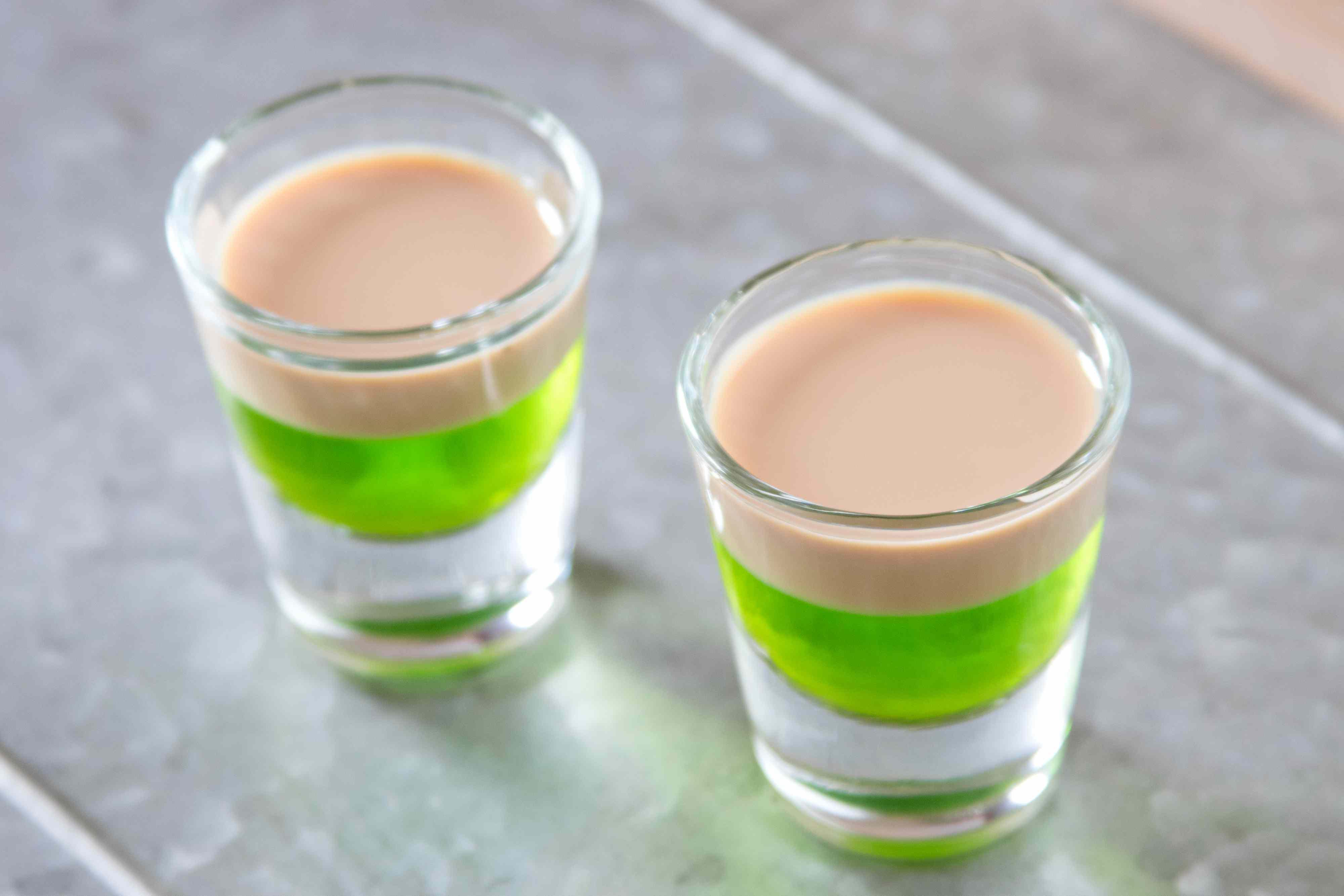 Irish Frog Layered Party Shot