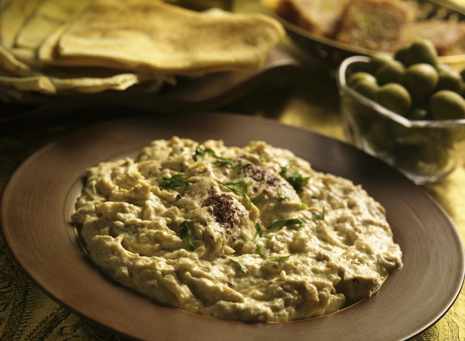 Moutabel spicy eggplant dip