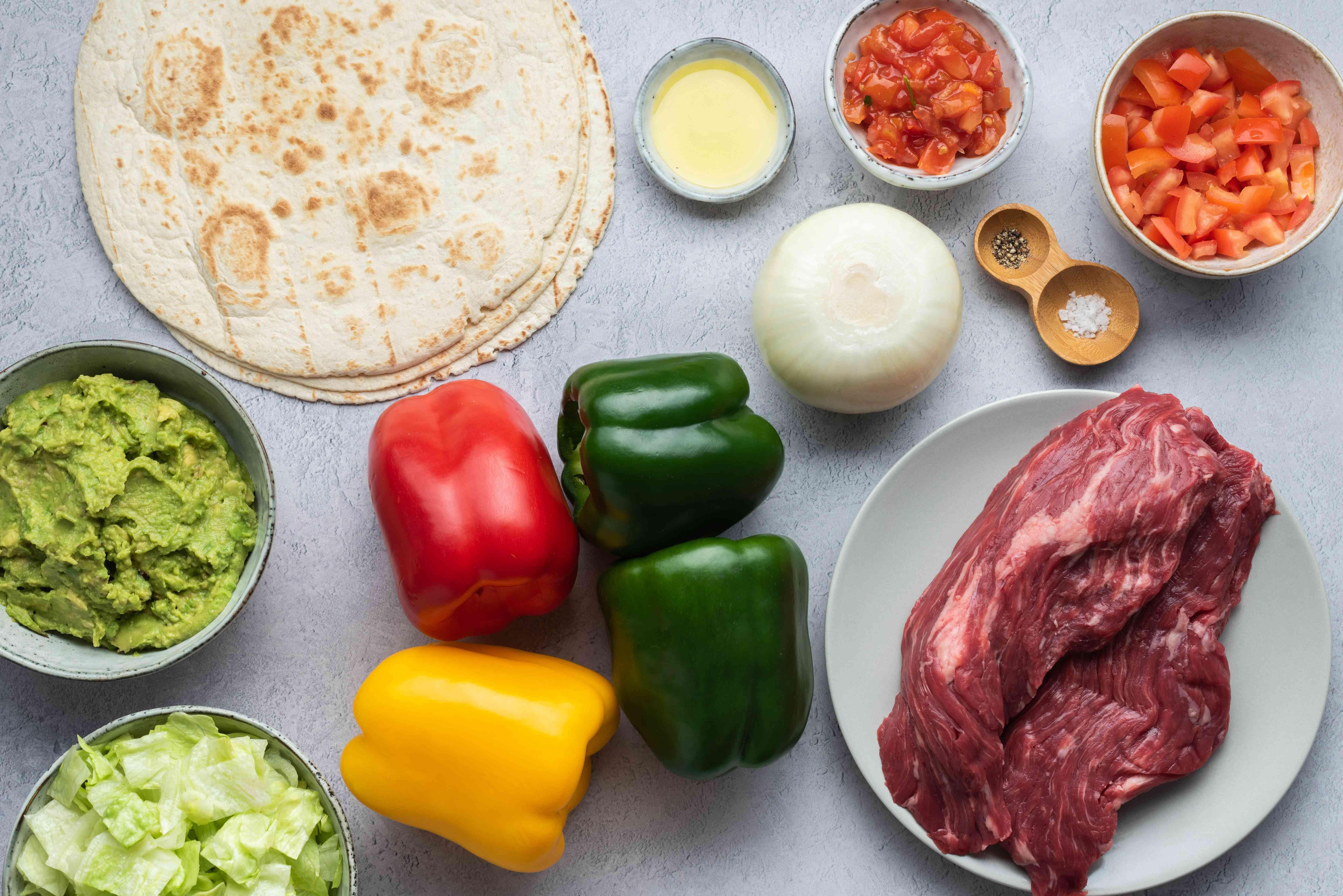 Quick stove-top beef fajitas ingredients