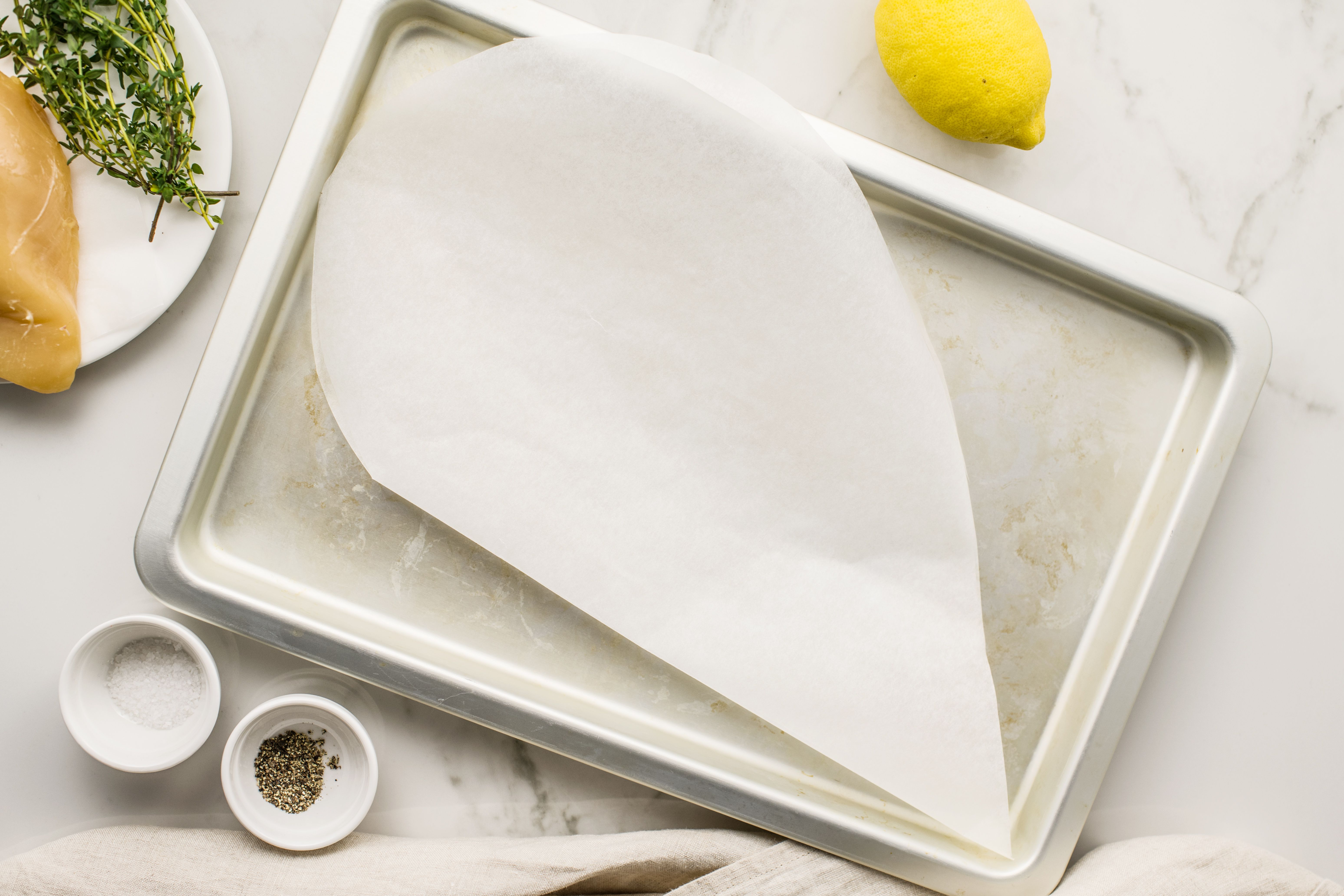 Put parchment paper on cookie sheet