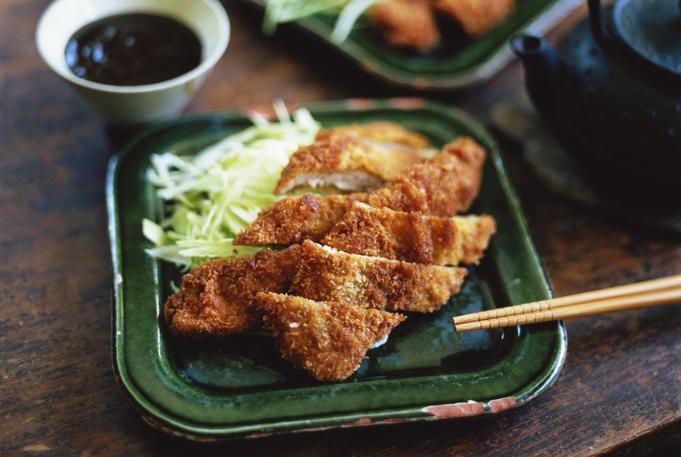 Tonkatsu japanese breaded fried pork