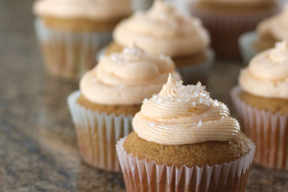 Cupcakes With Orange Frosting