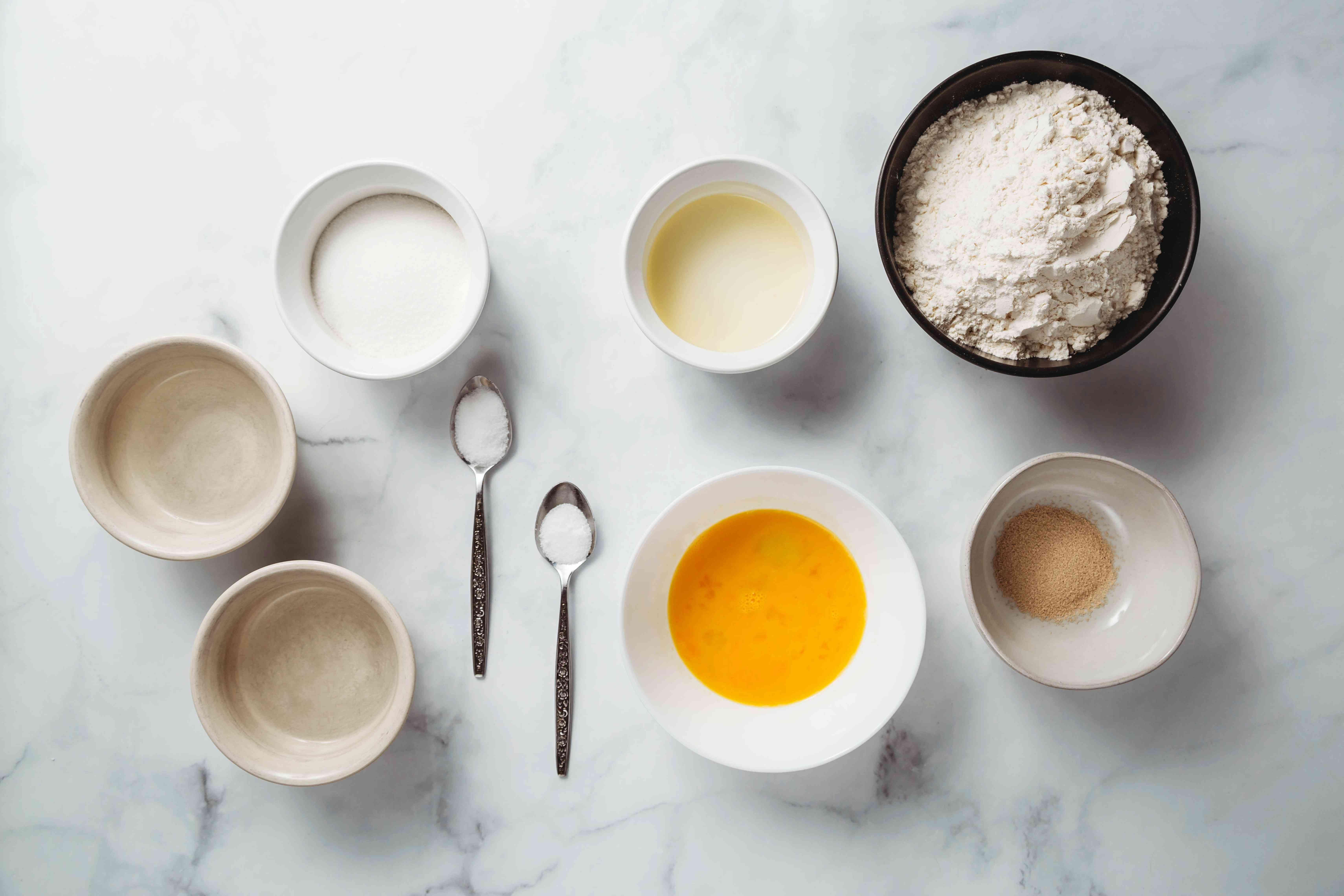 Basic Chinese Bun Dough ingredients