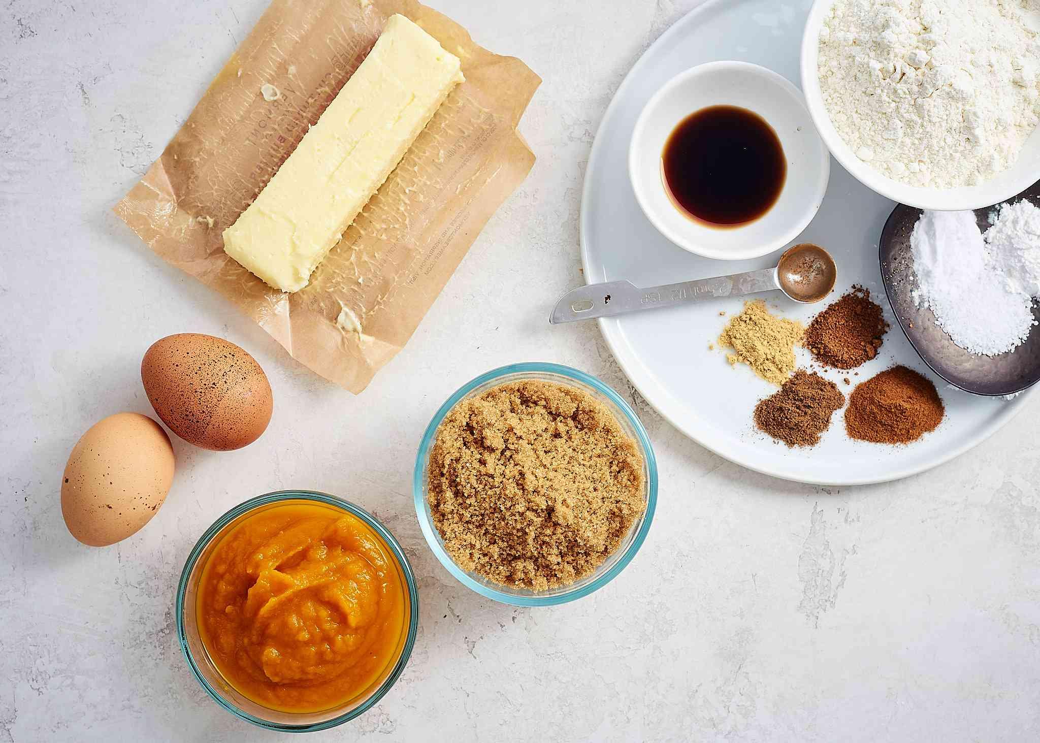 Pumpkin Cream Cheese Swirl Brownies ingredients