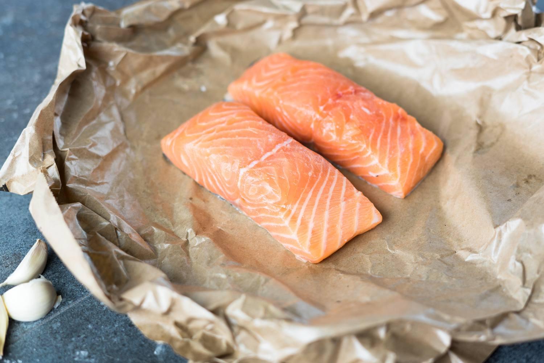 Salmon fillets.