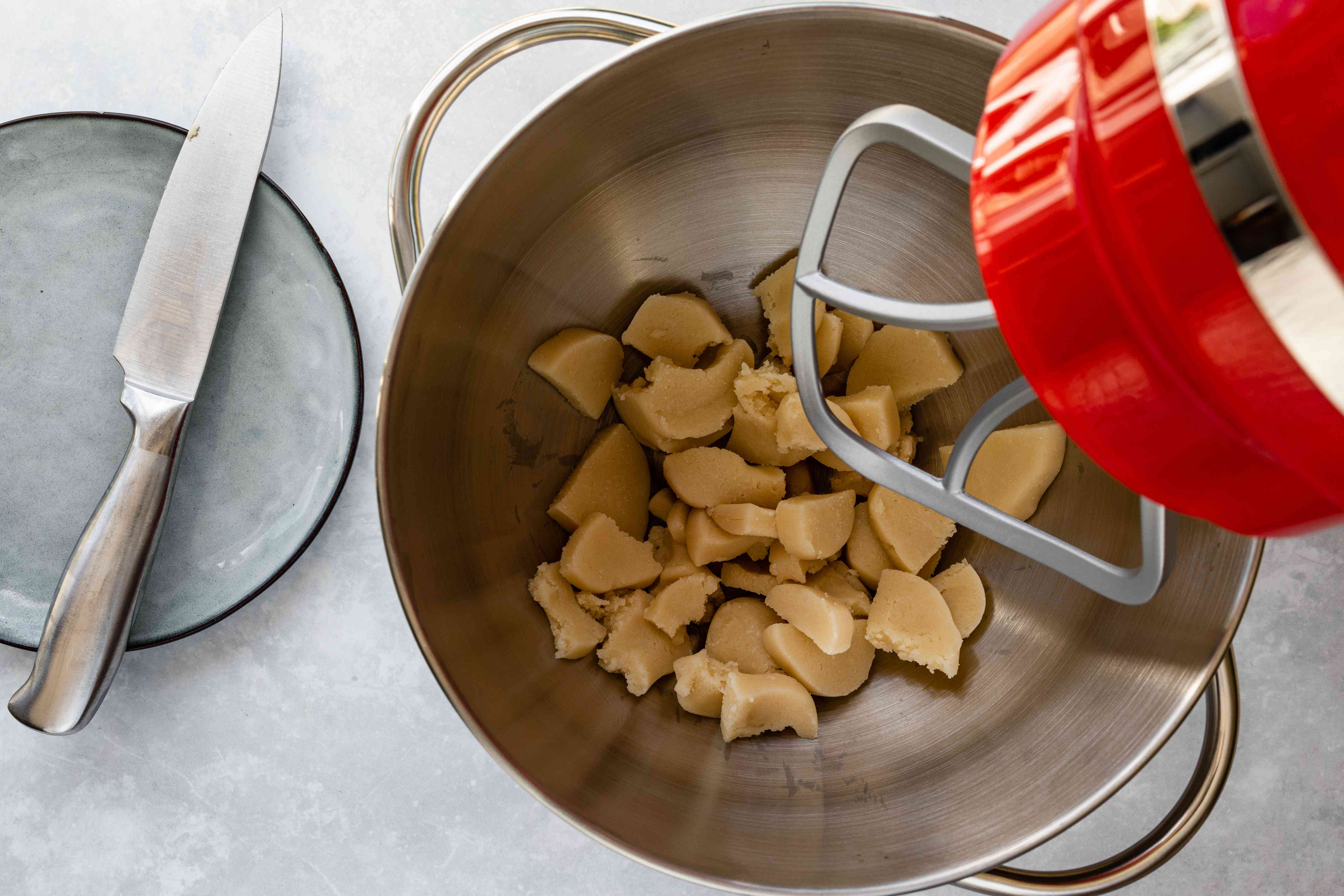 Coarsely chopped almond paste