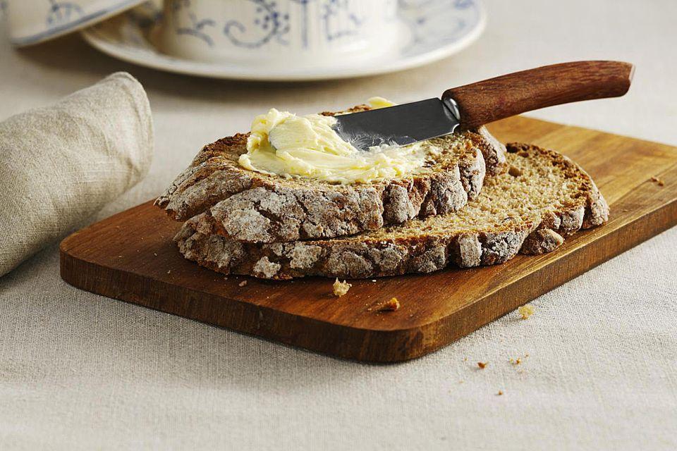 Pan de mantequilla de dos hogazas
