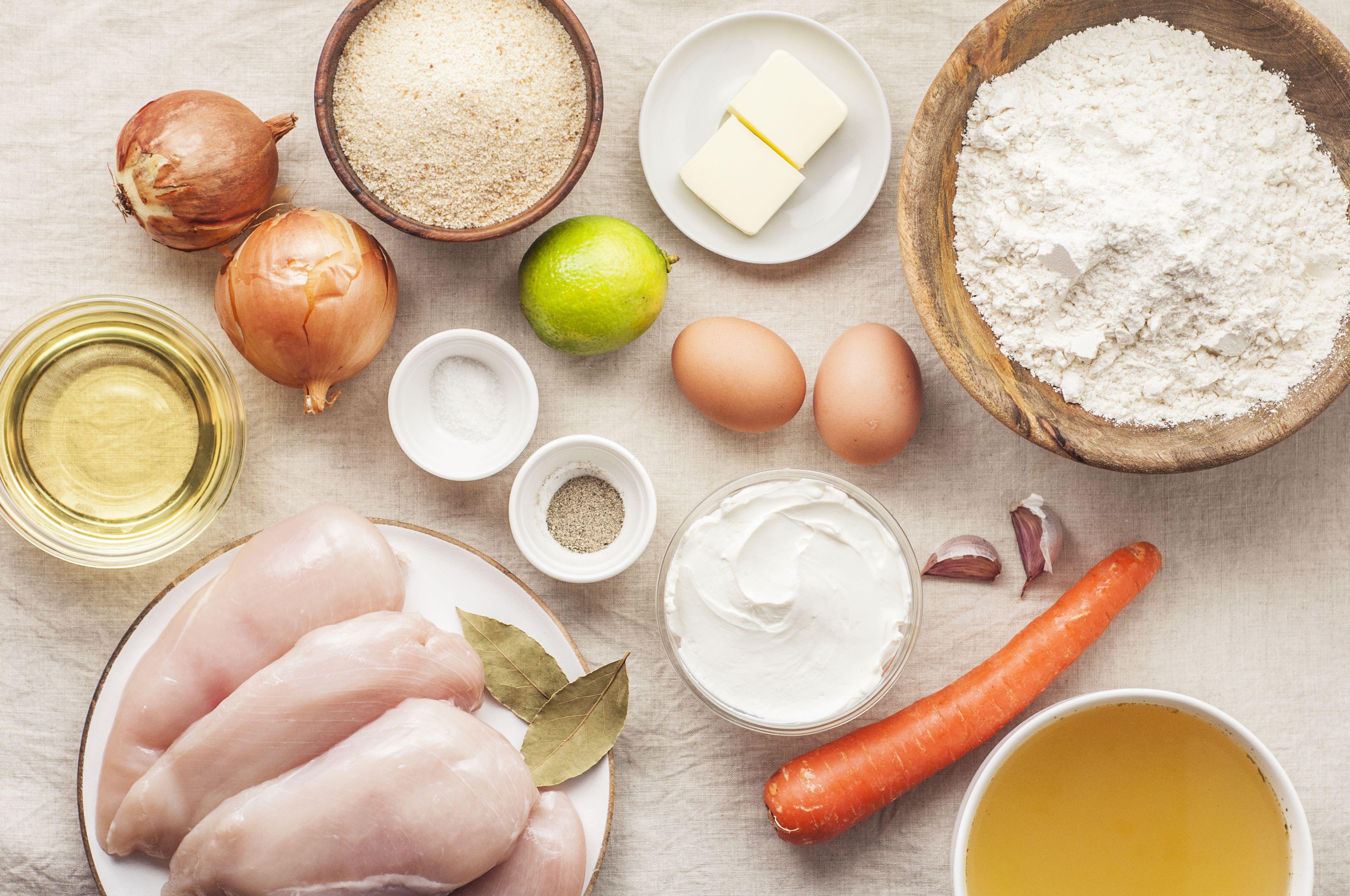 Brazilian Chicken Croquettes Recipe ingredients