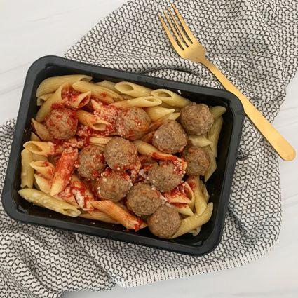 MealPro pasta in tray