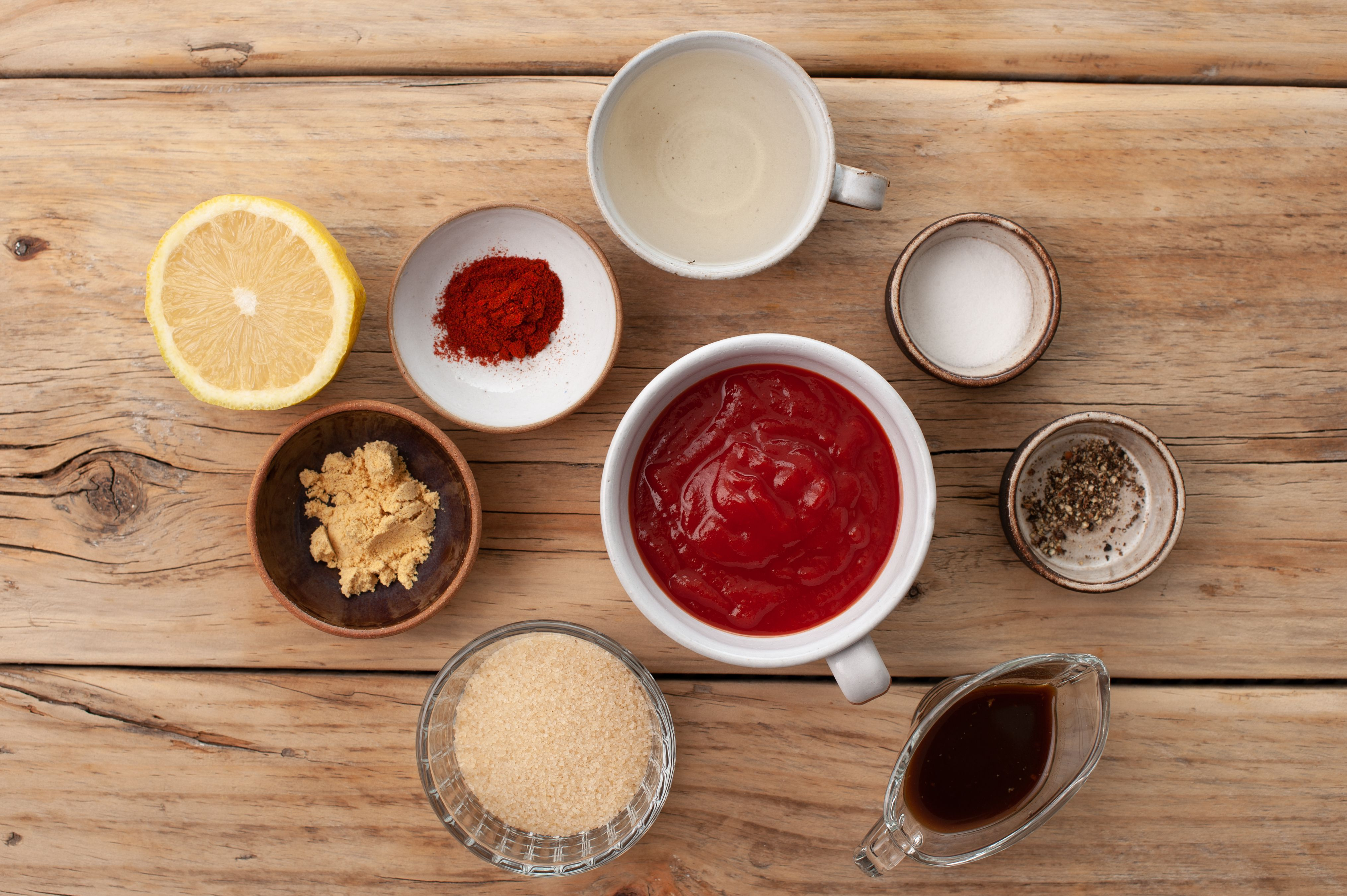 Ingredients for bbq sauce