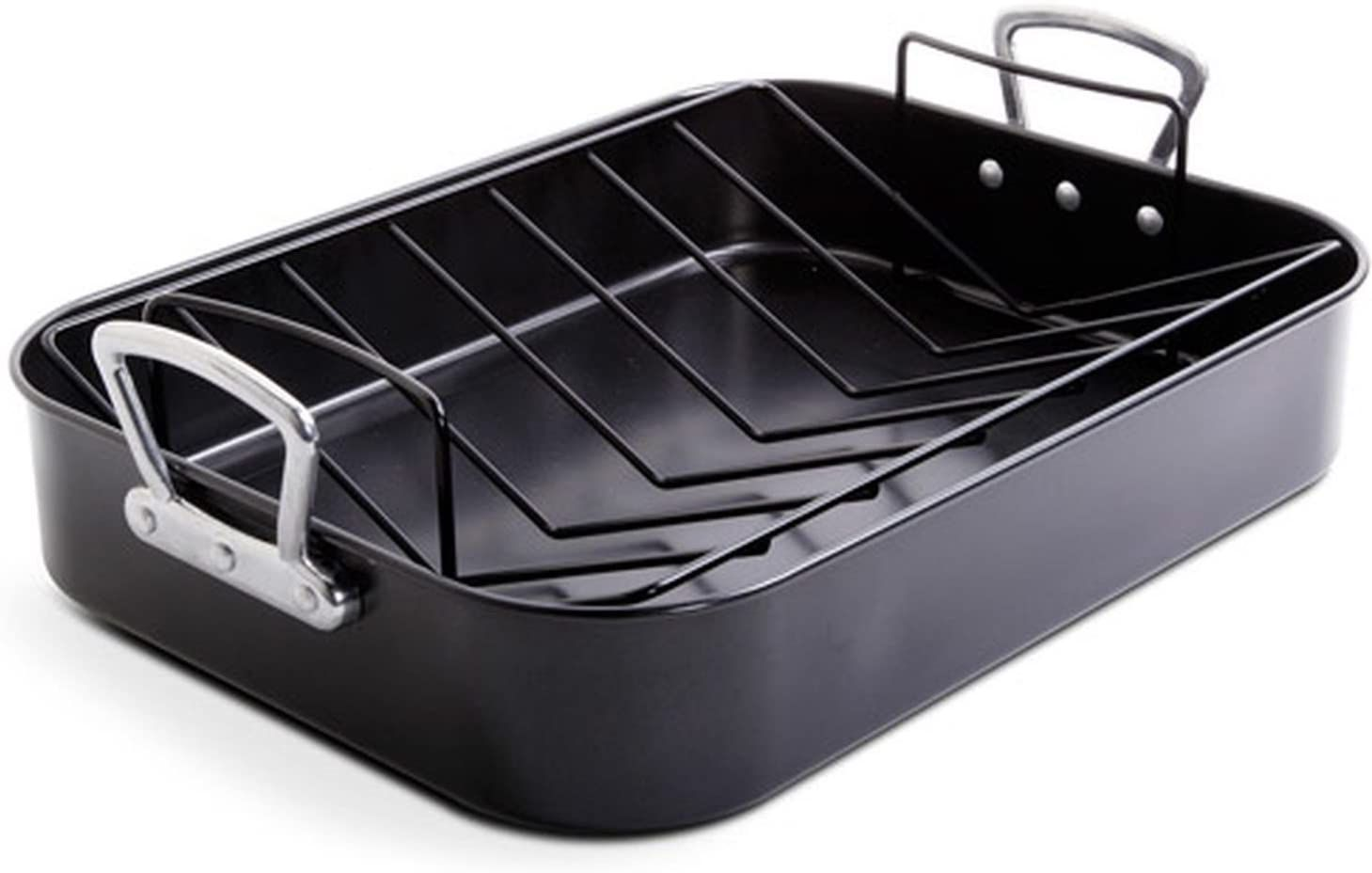 Gibson Home French 2-Piece Turkey Roaster and V Rack