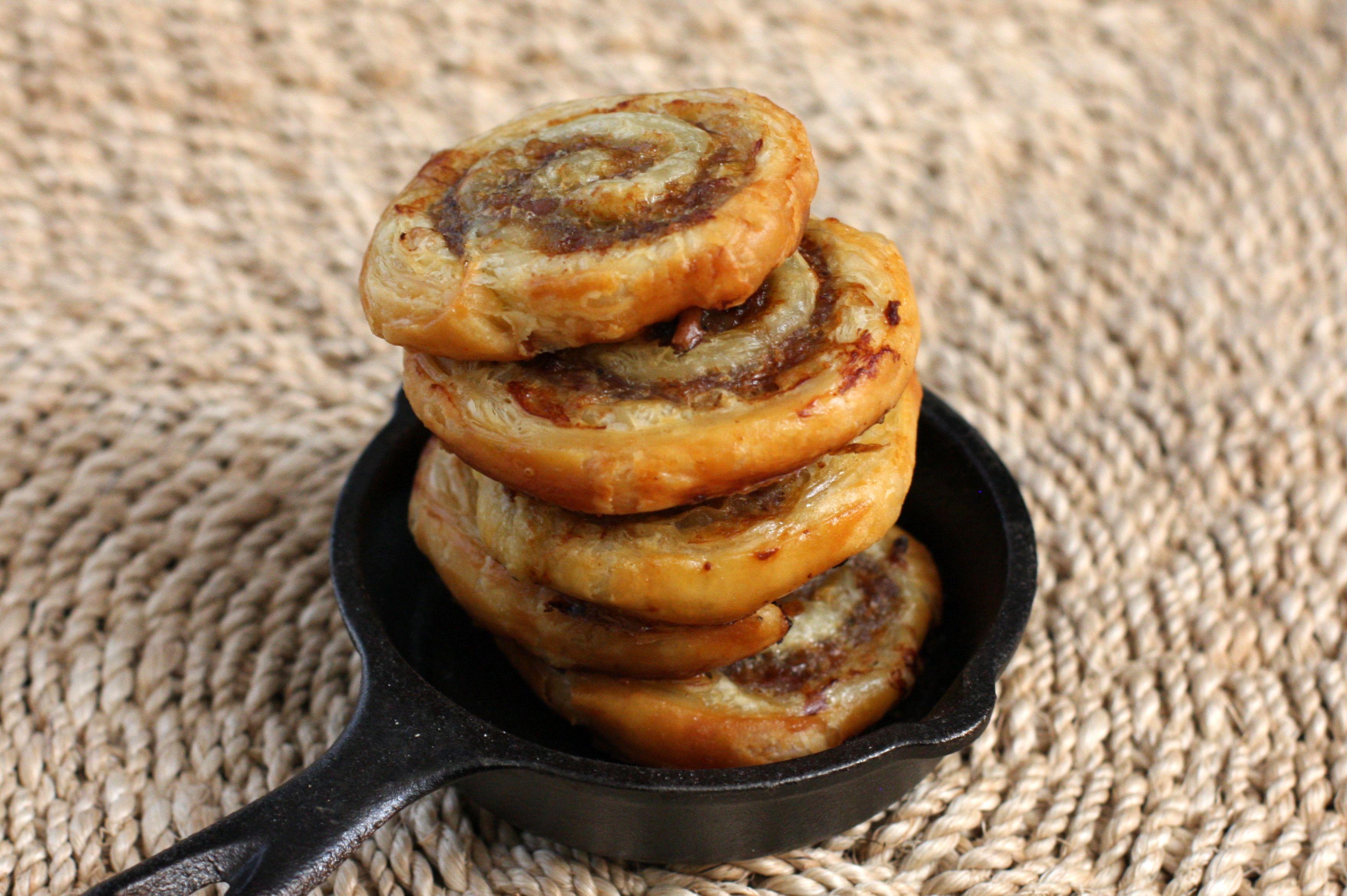 sausage pinwheels, rolls
