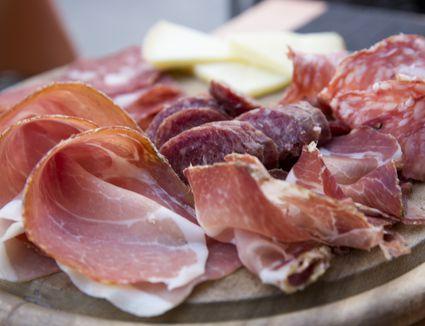 Thin slices of prosciutto