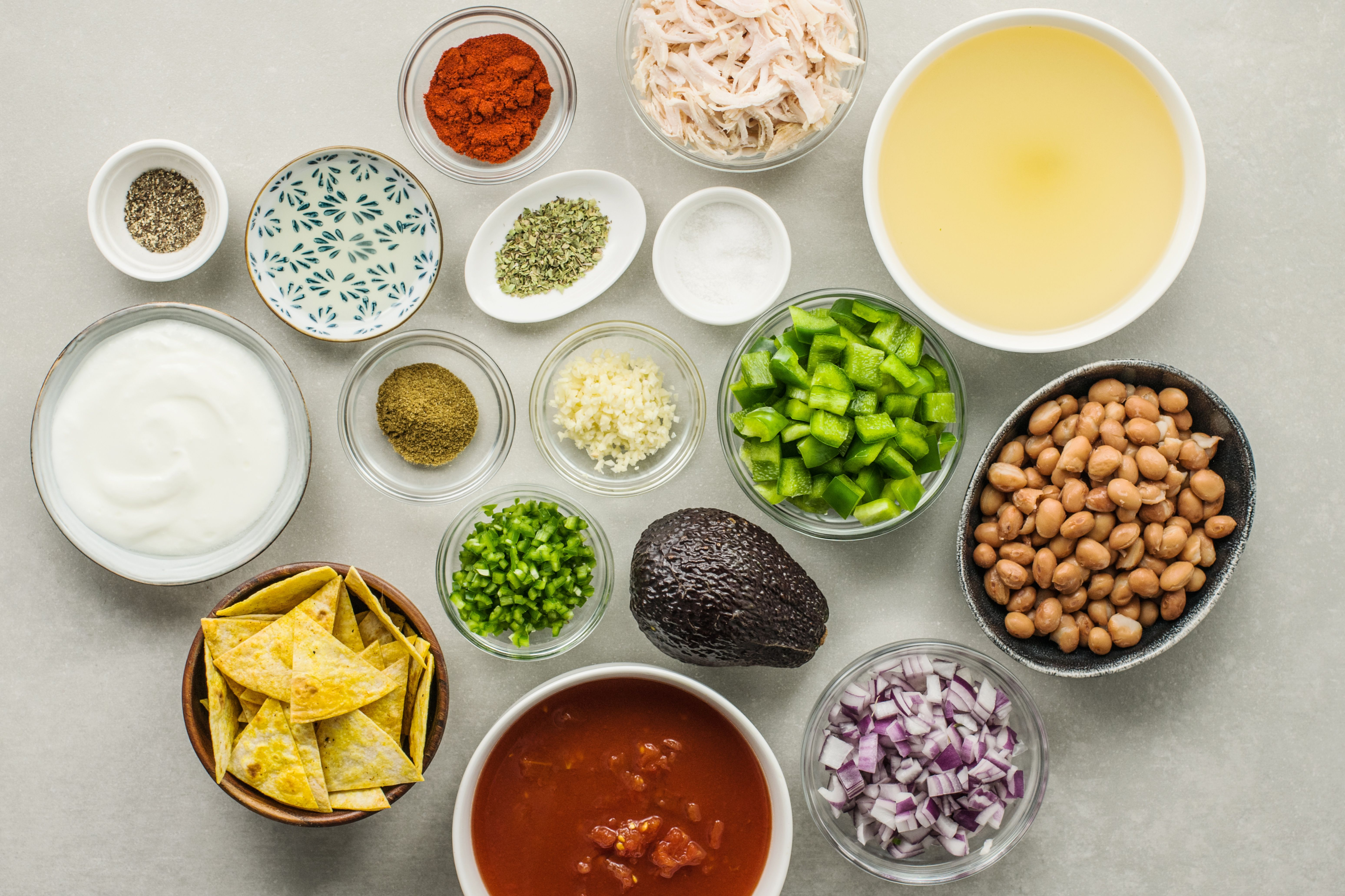 Ingredients for turkey taco soup