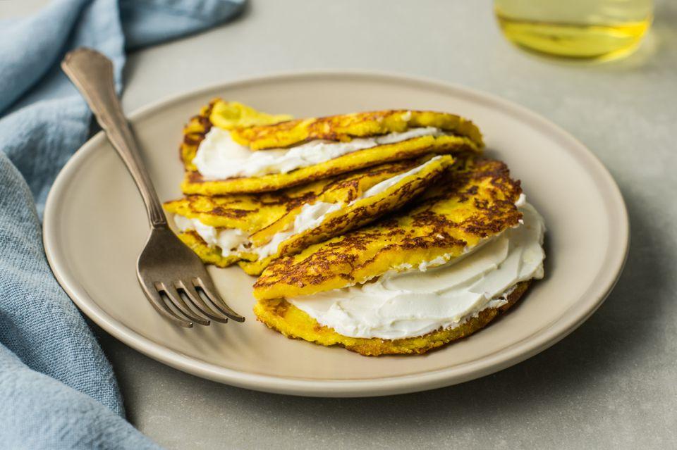 Cachapas corn pancake recipe