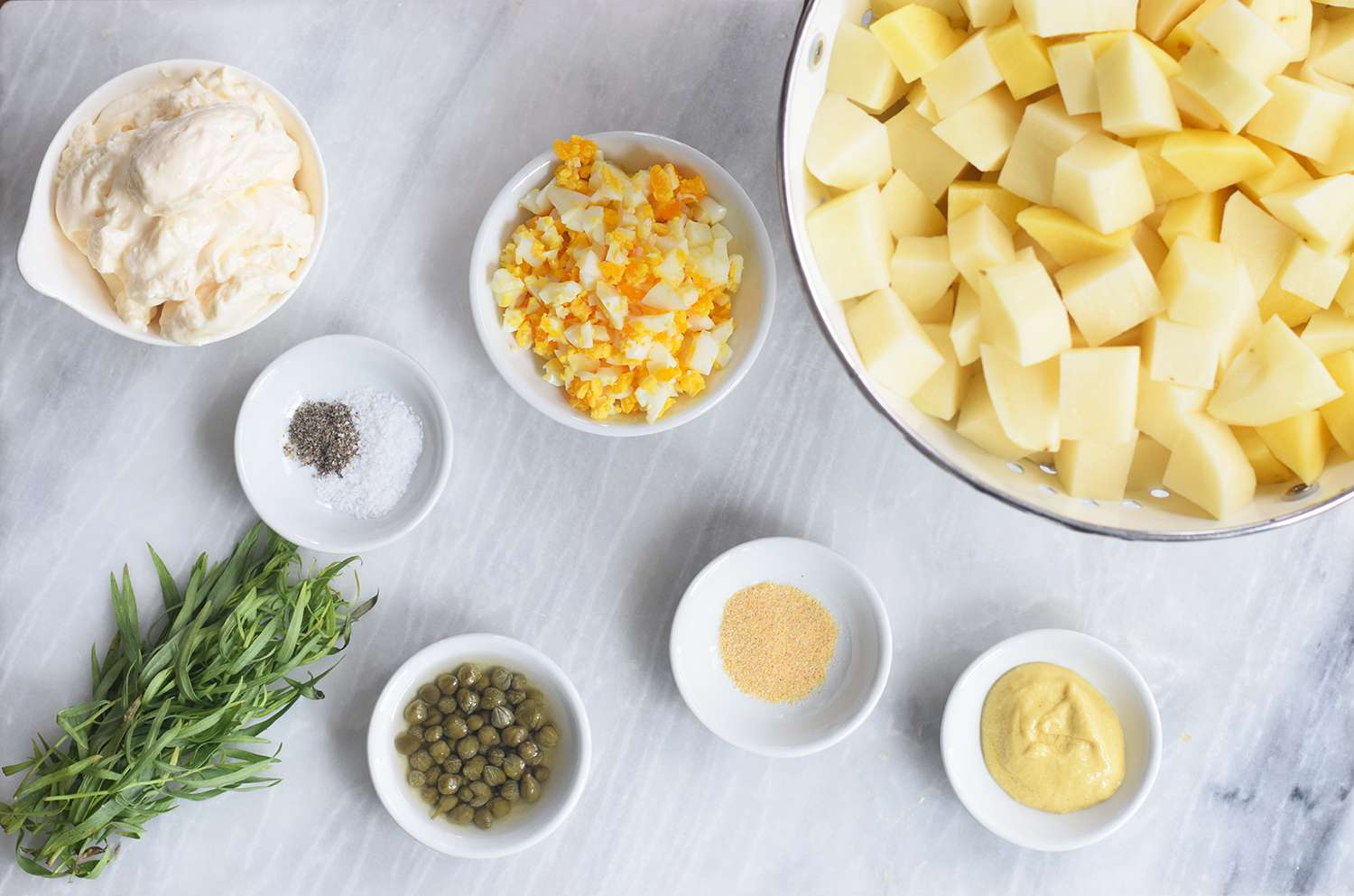 Ingredients for French Potato Salad