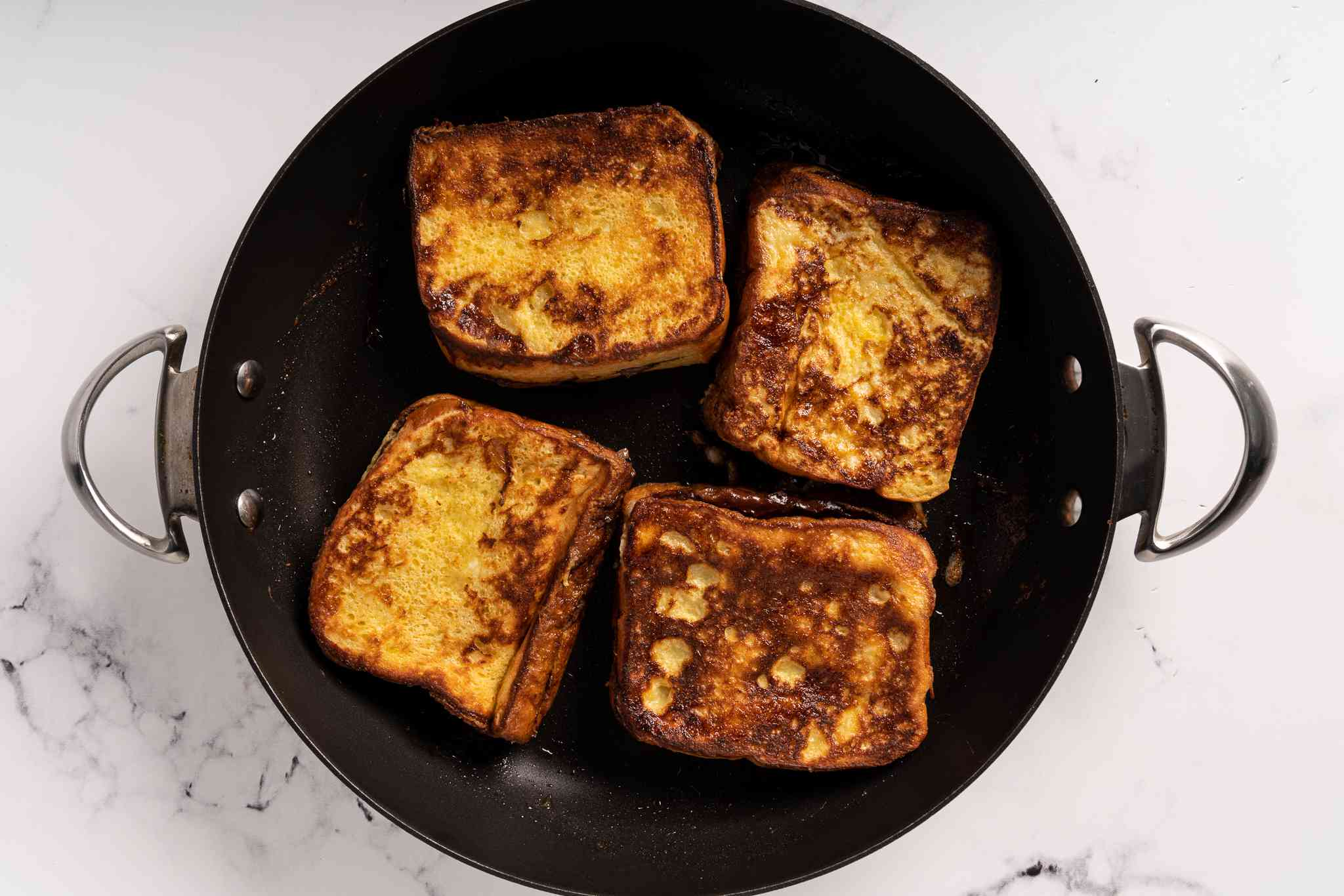 french toast cooking in a pan