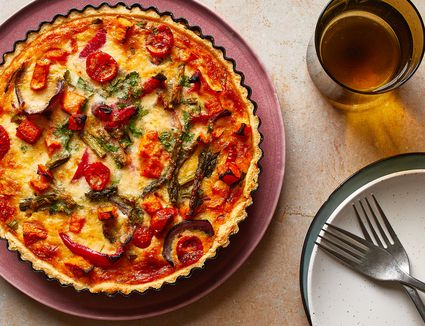 Classic Roasted Vegetable Quiche