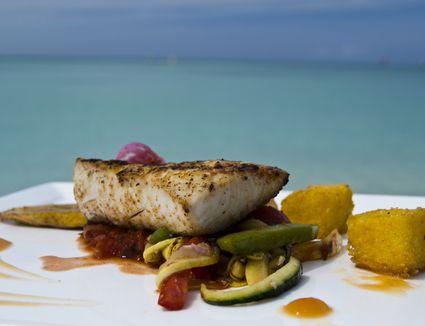 Mahi-mahi fish dish on a plate