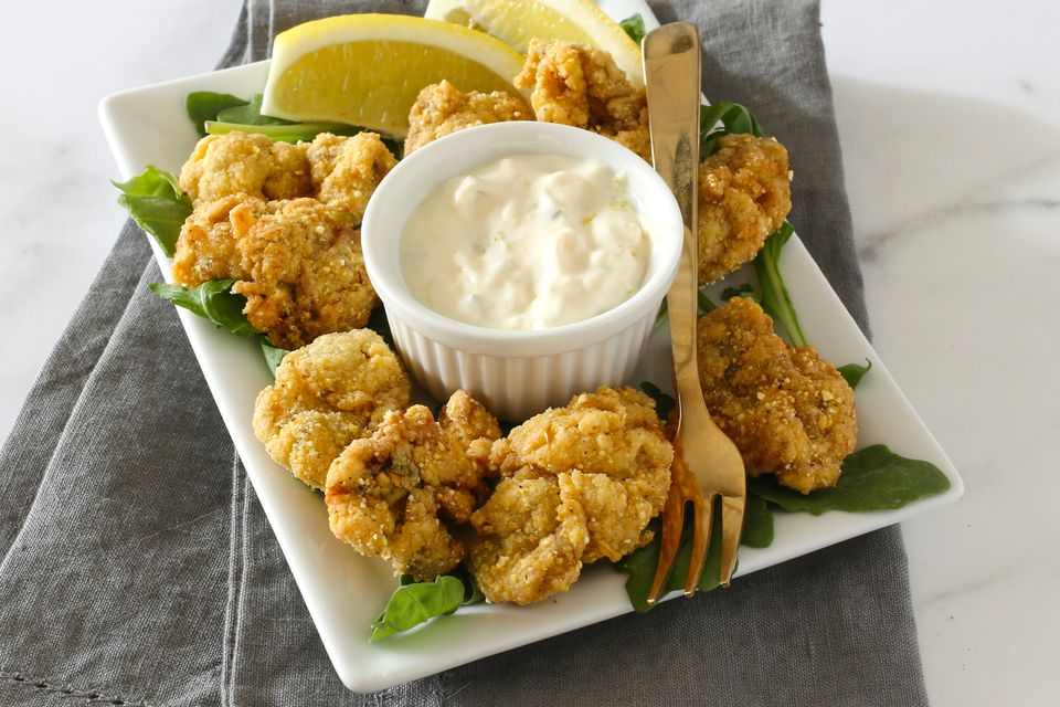 fried oysters with cornmeal