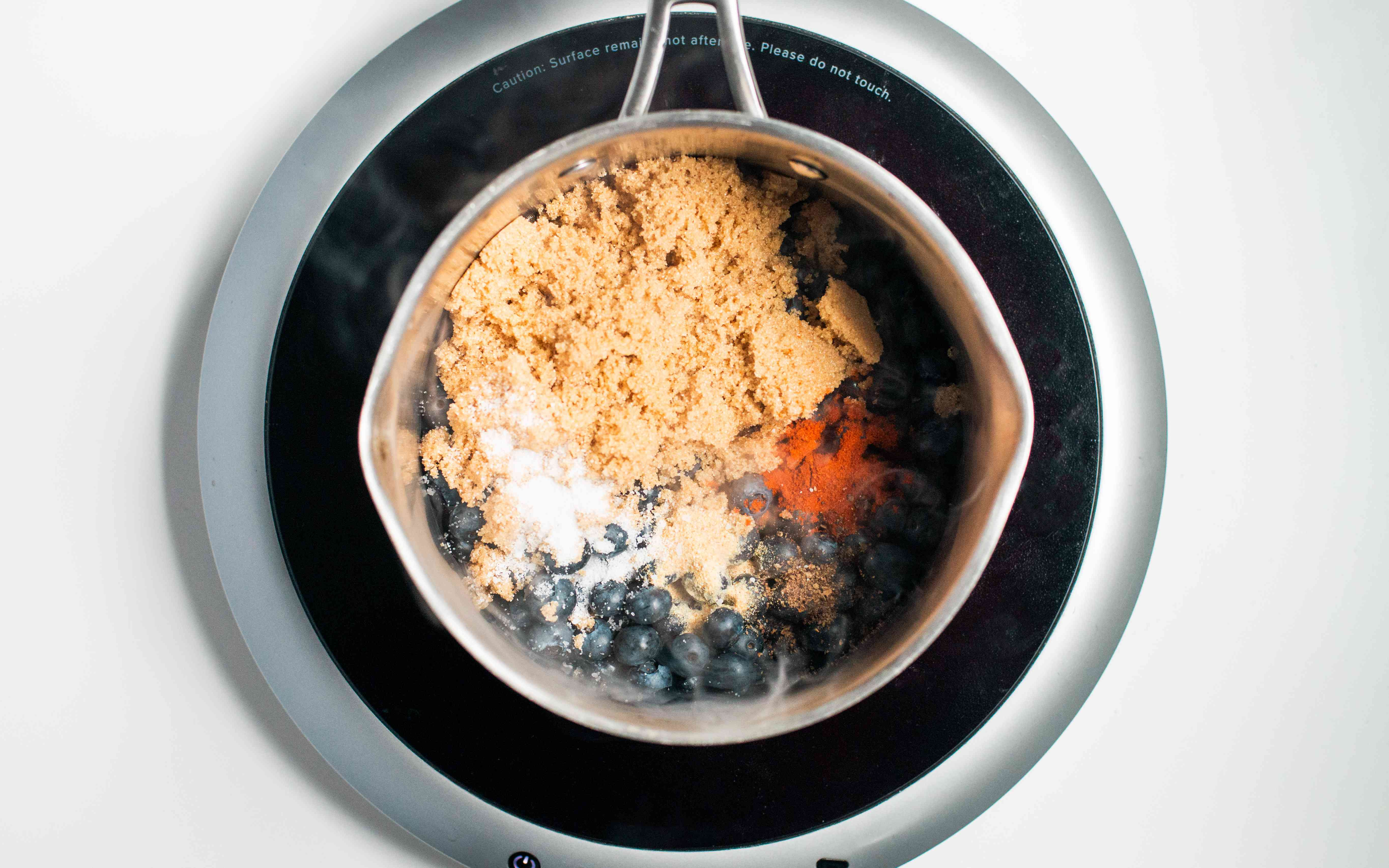 Combine blueberries, brown sugar and other ingredients