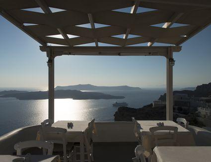 Seaside Restaurant in Santorini