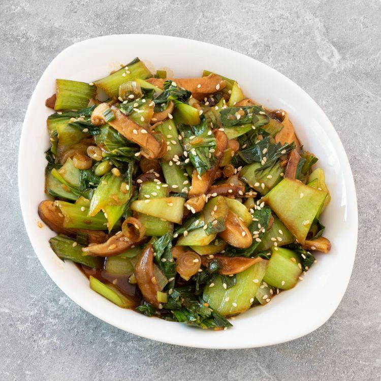 Bok Choy Shiitake Mushroom Stir Fry Tester Image