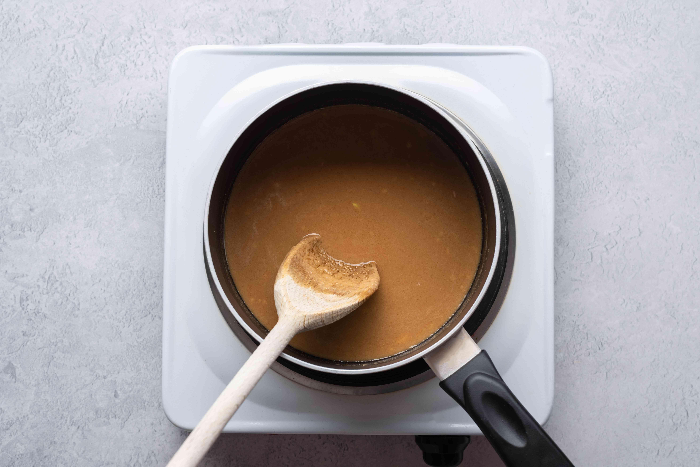 Vegan Thai Peanut Sauce in a pot