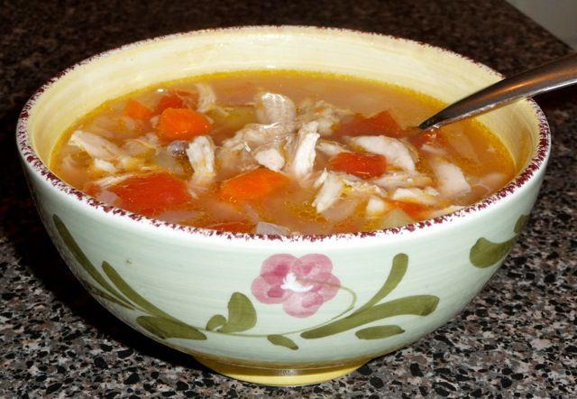 Greek chicken soup