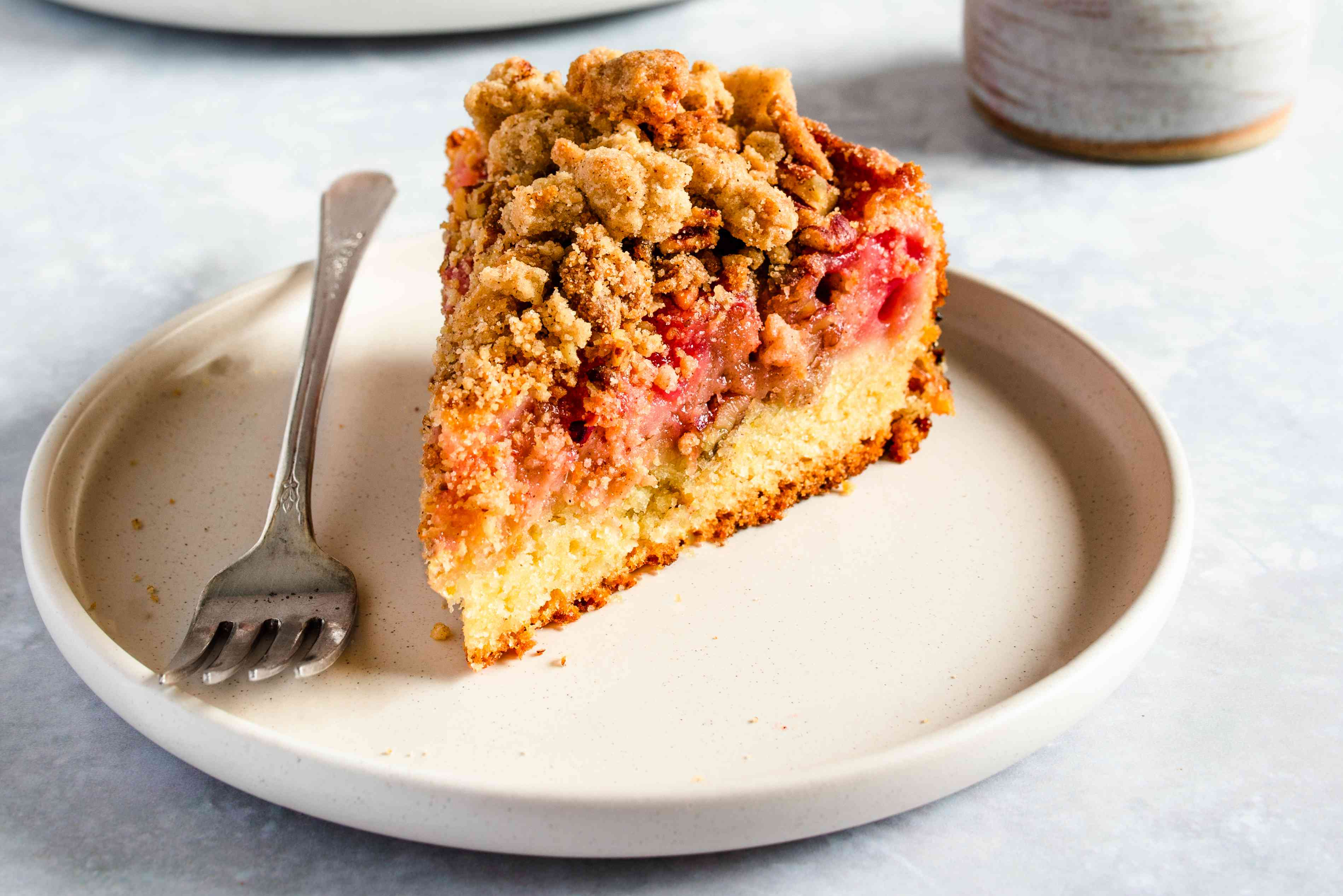 Strawberry rhubarb cake recipe