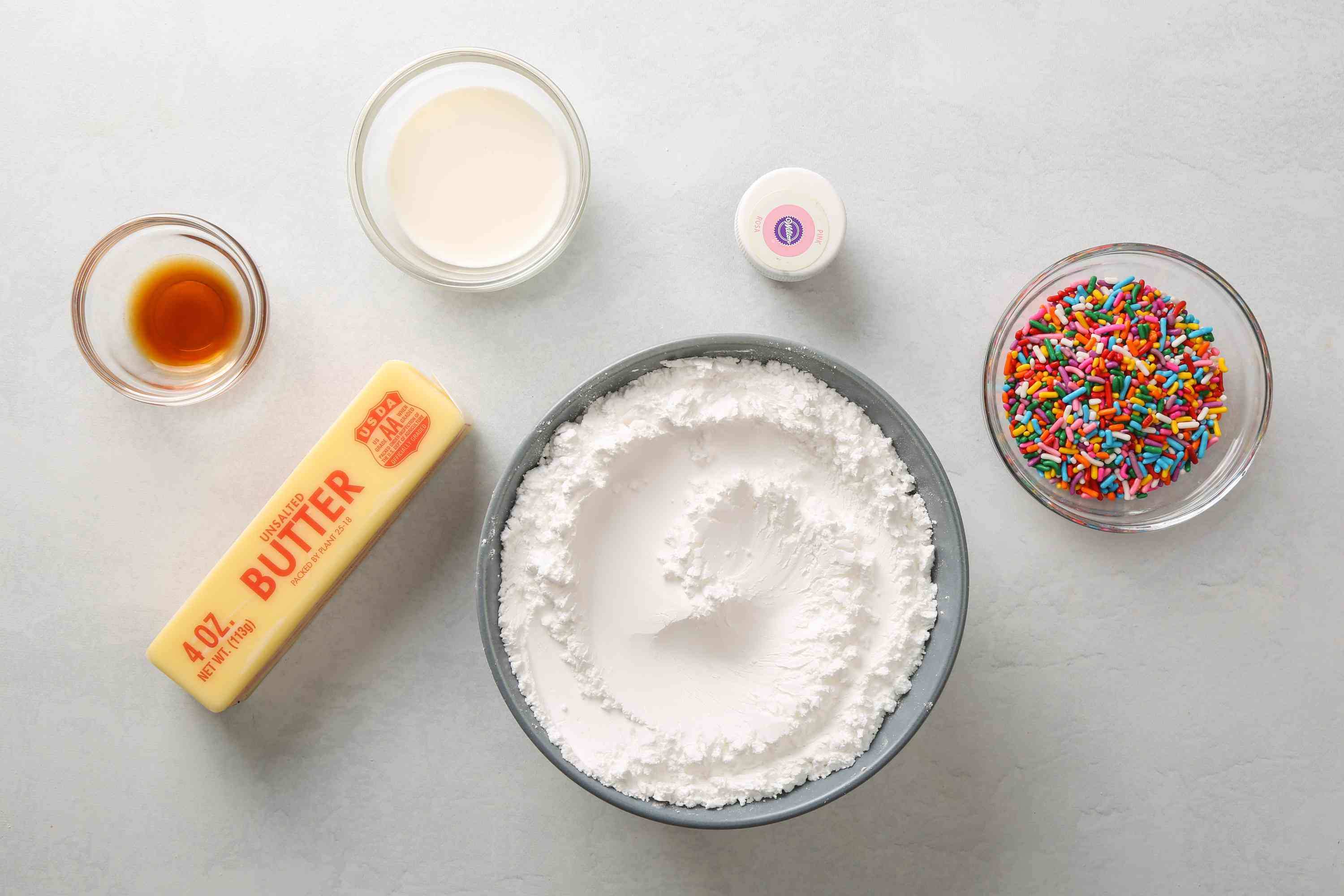 Ingredients for Lofthouse Cookie frosting