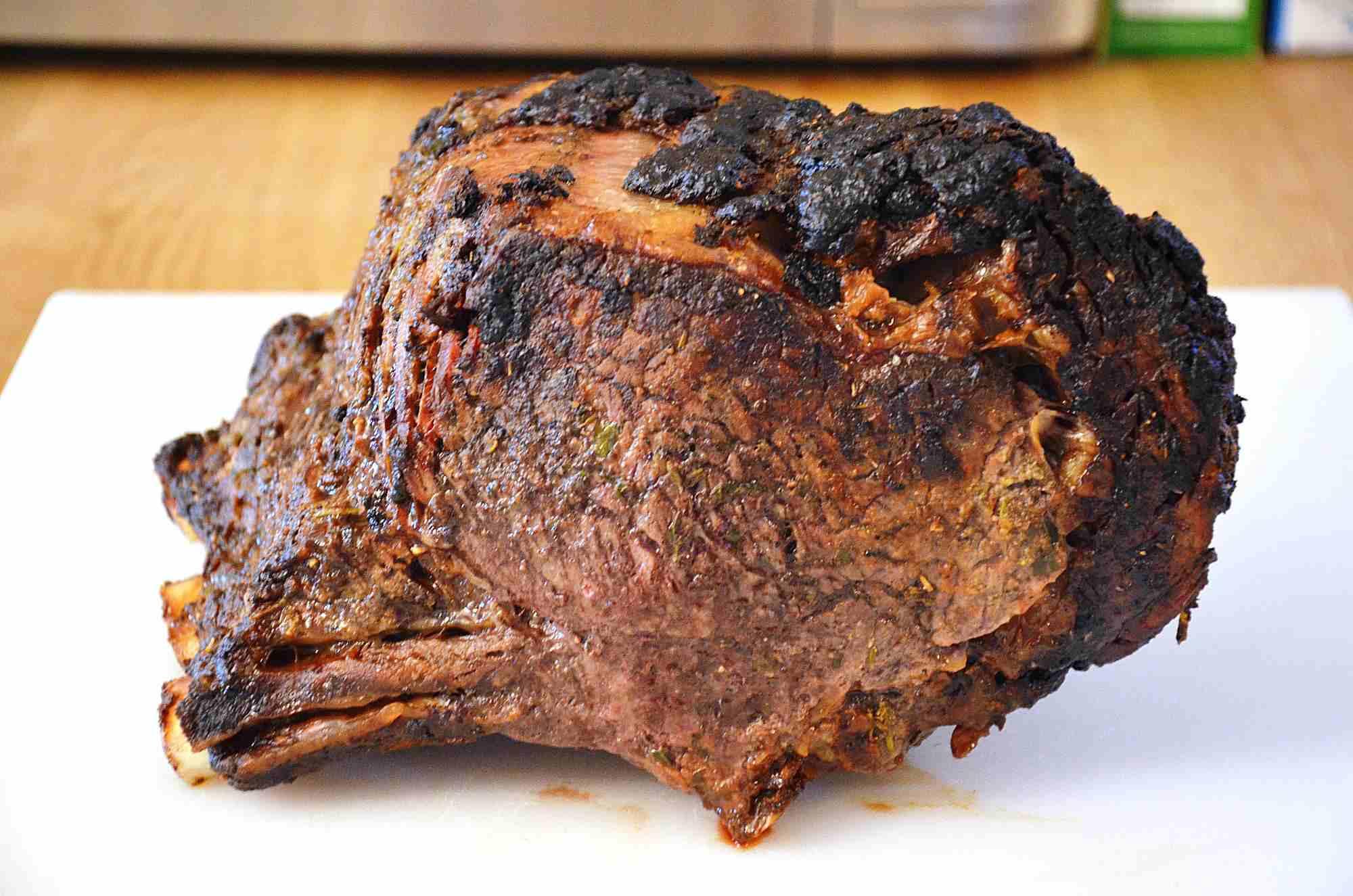 Finished rib roast