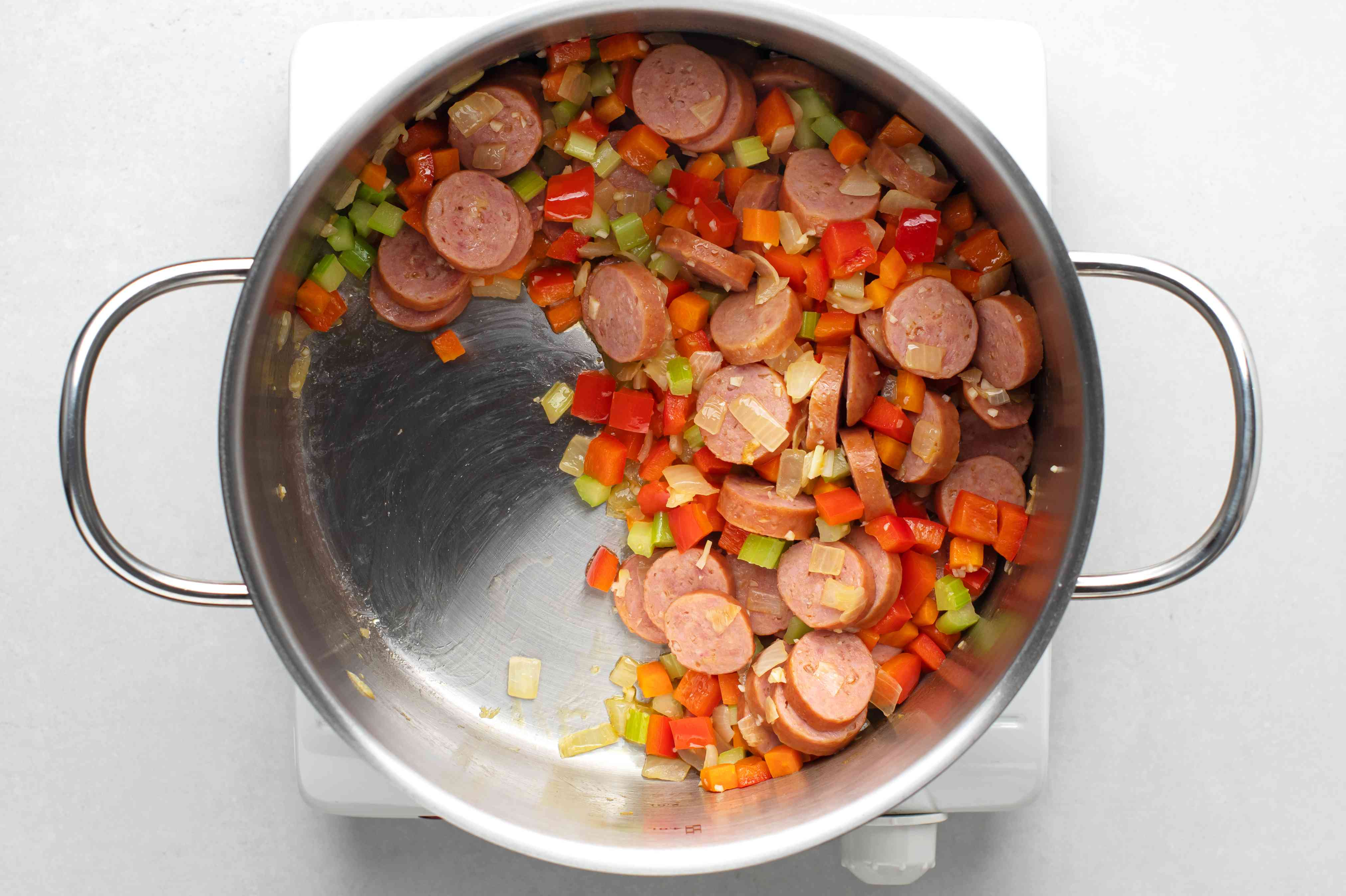 drain the excess fat from the pot