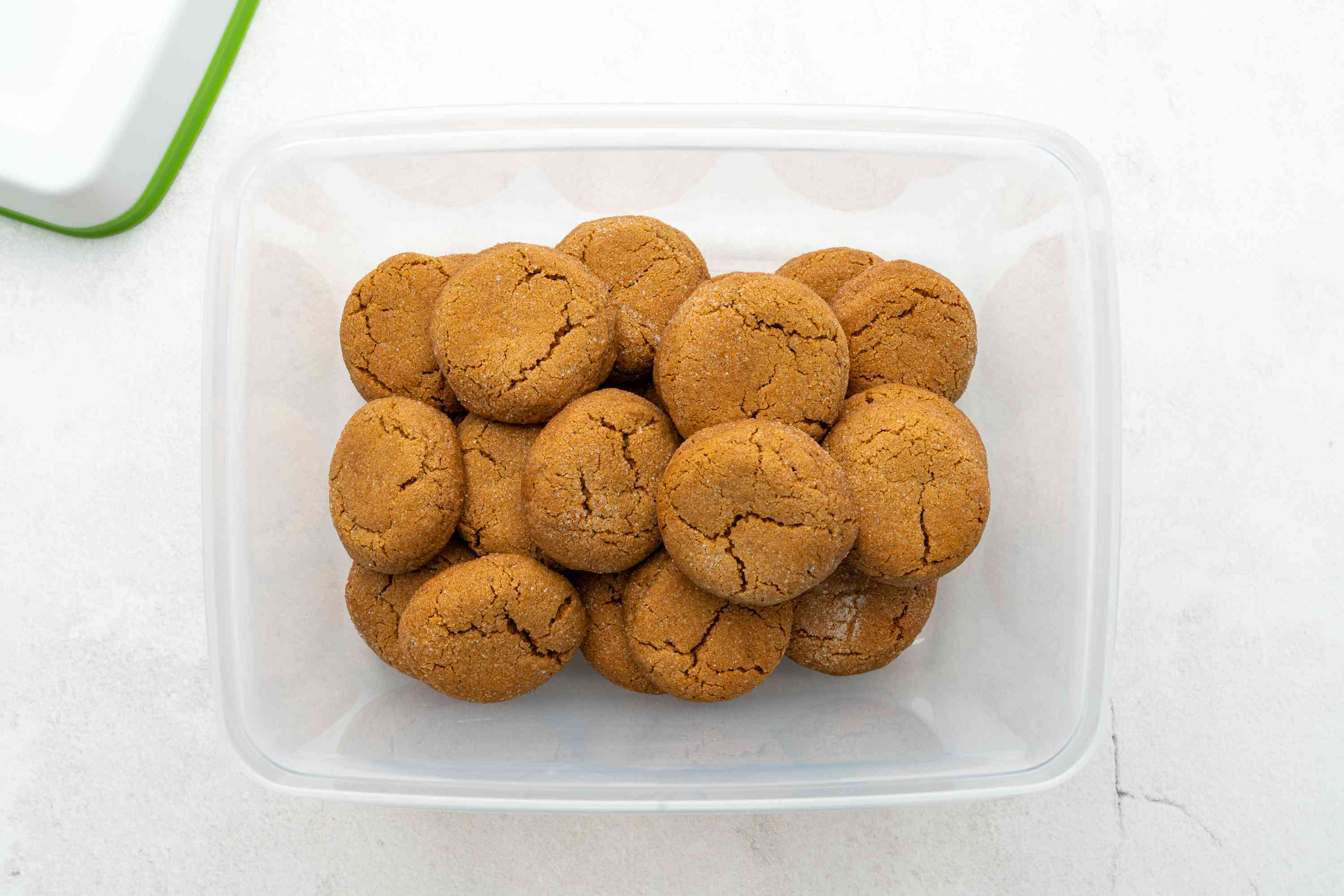 Gingersnap Cookies in a container