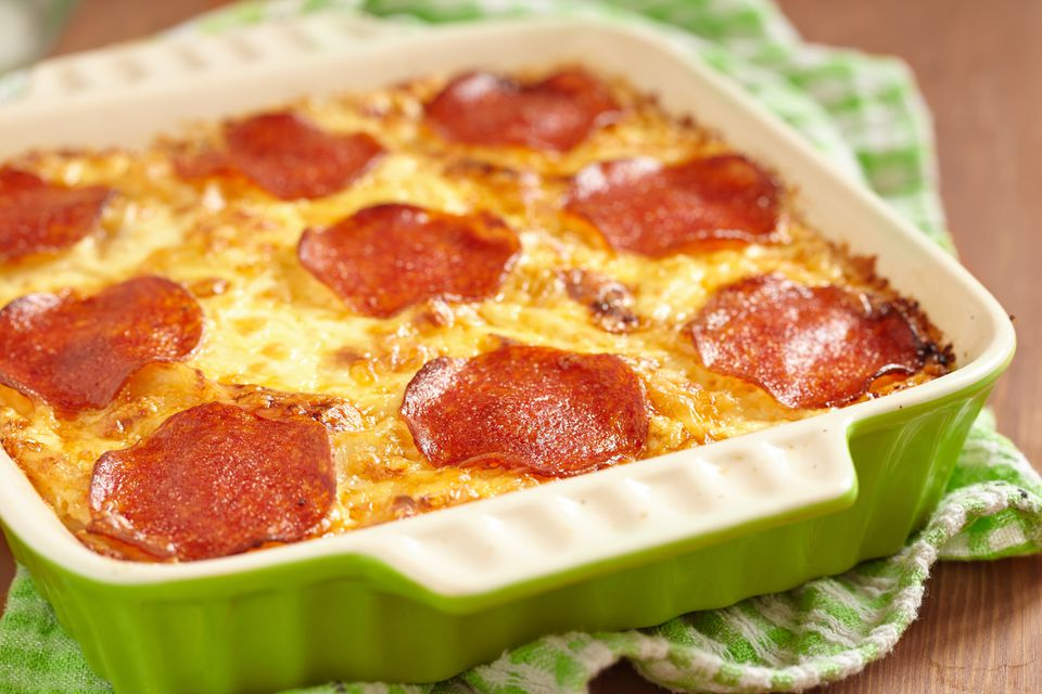Chicken Pepperoni Bake: Pizza in a Casserole