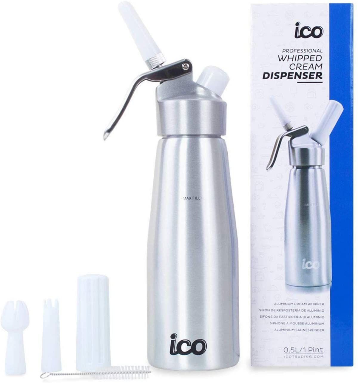 Impeccable Culinary Objects (ICO) Professional Whipped Cream Dispenser